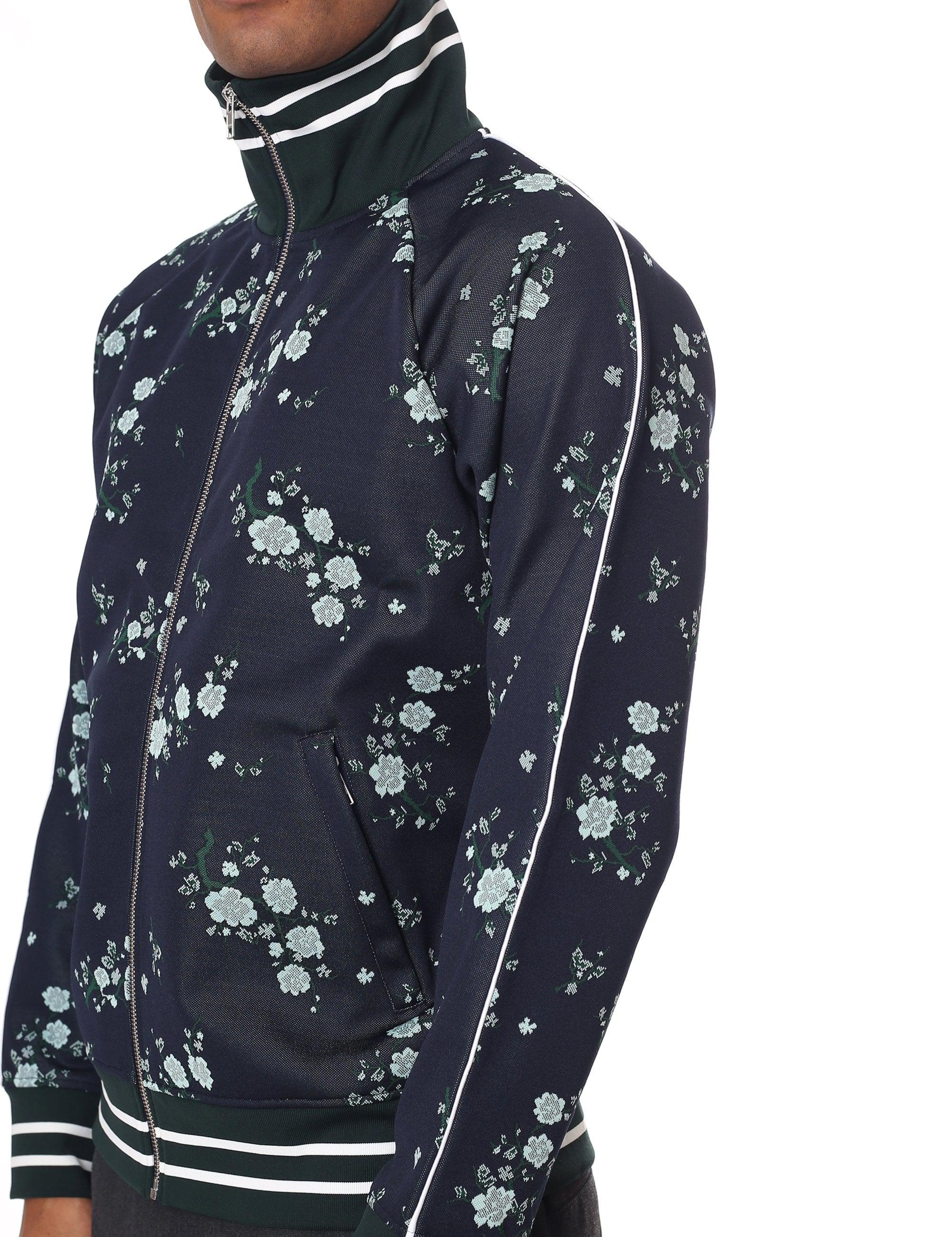 afaefd49deff8 KENZO - Blue Cheongsam Flower Jacket for Men - Lyst. View fullscreen