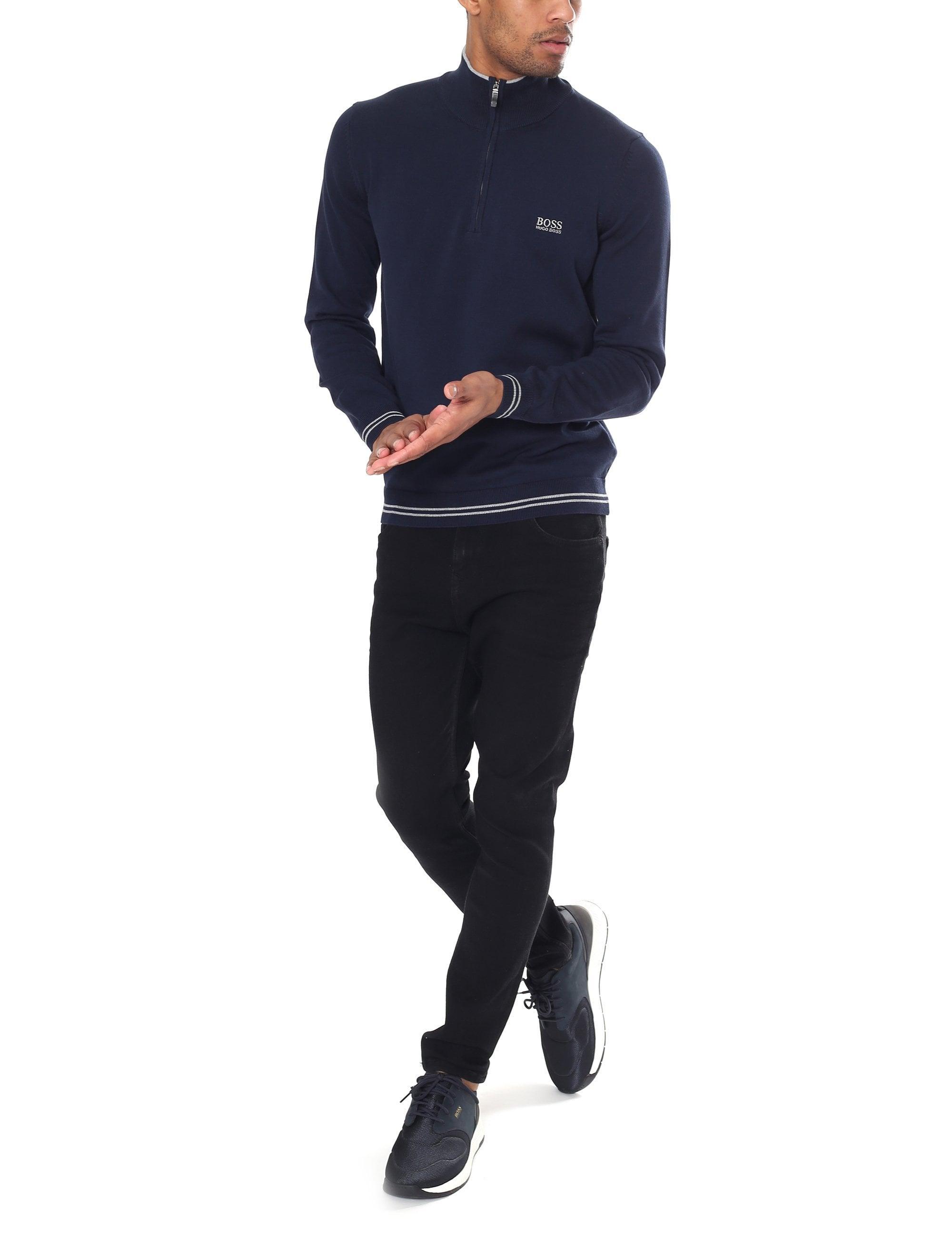 bc2e94ba9 BOSS Athleisure Zimex Quarter Zip Pullover Knit in Blue for Men - Lyst