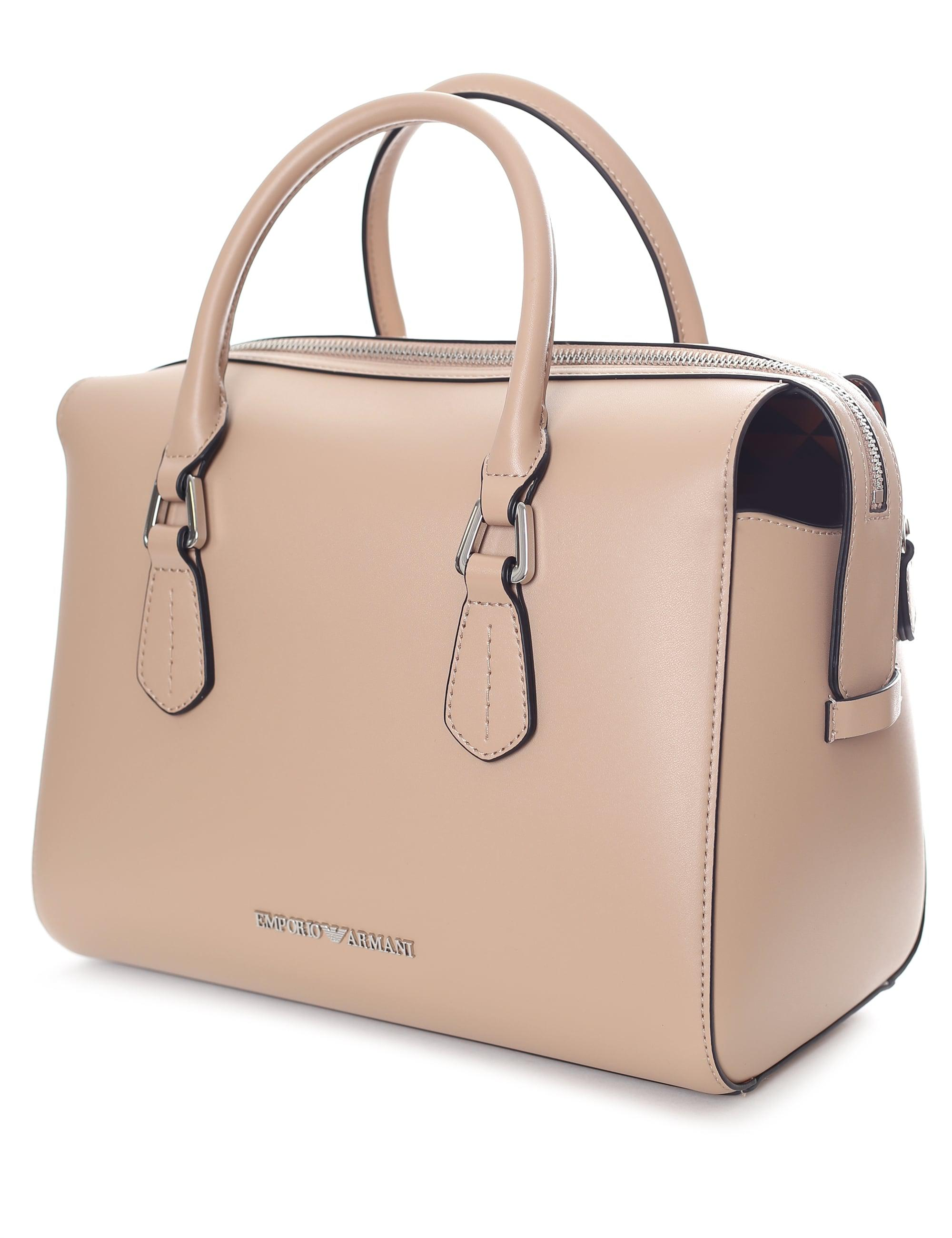 5e3c86ba1f4d Emporio Armani Wilma Bowling Bag in Natural - Lyst