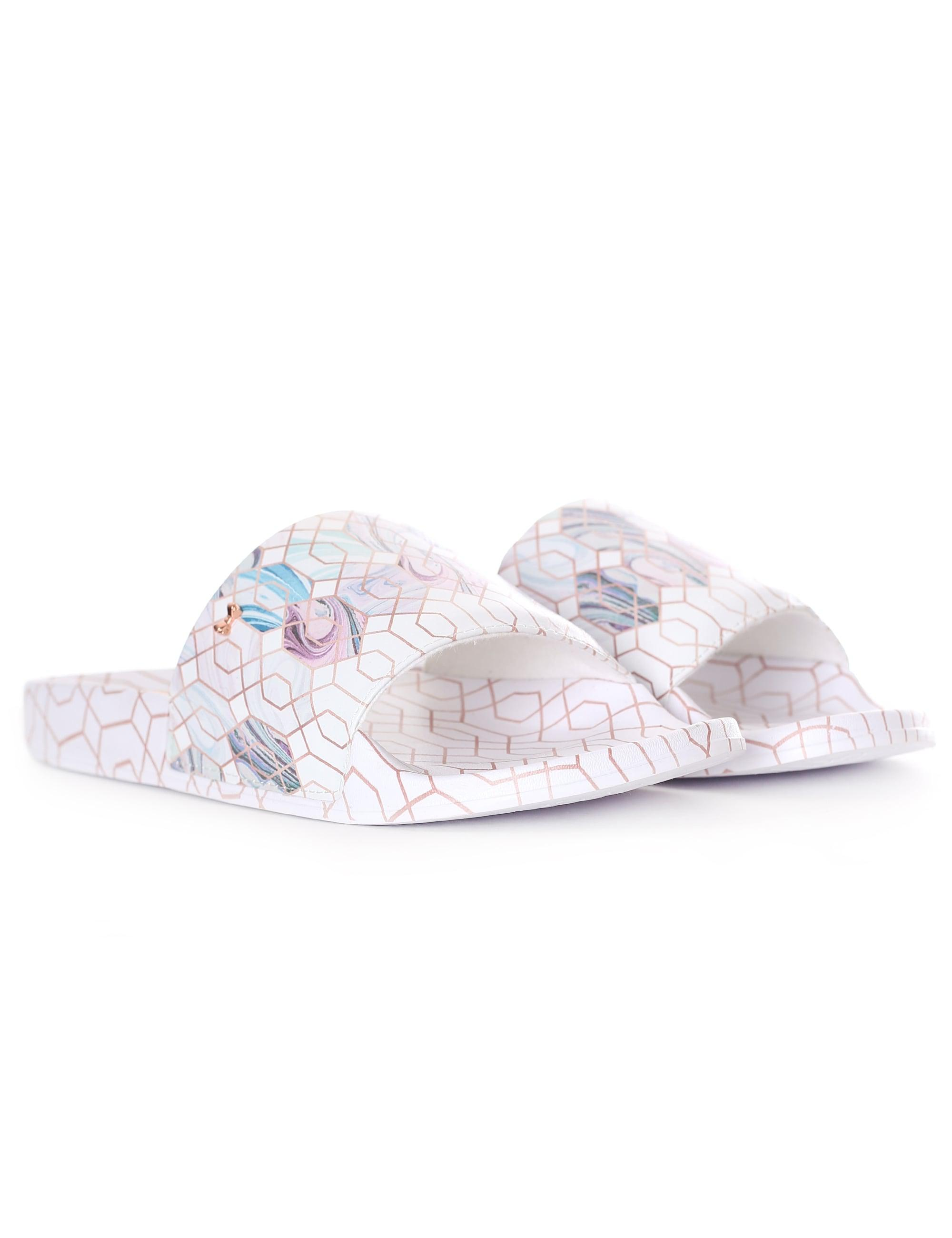 41b0c8855f10 Ted Baker Printed Sliders - Lyst