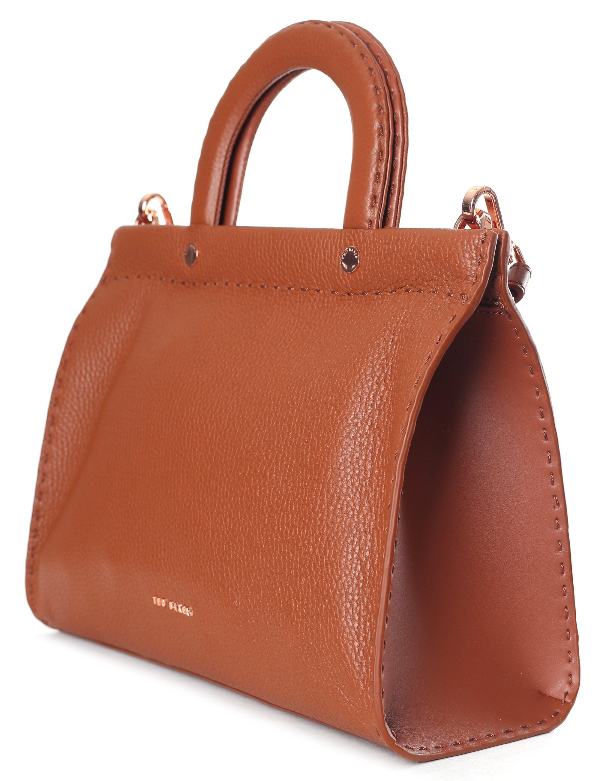 54edaf72c915 Ted Baker Women s Stab Stitch Midi Tote in Brown - Lyst