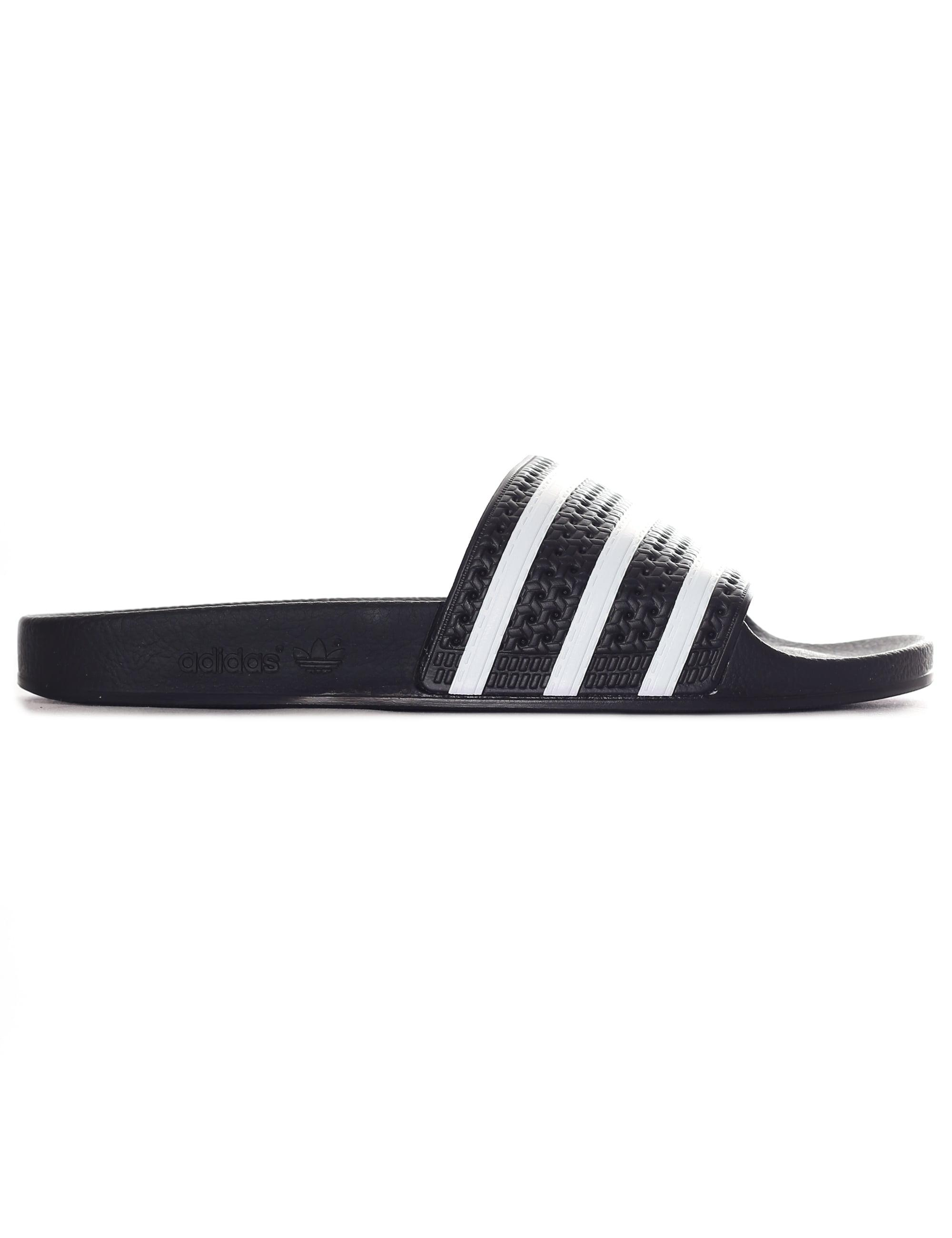 brand new 866e2 a41bd adidas. Men s Black And White Adilette Slides