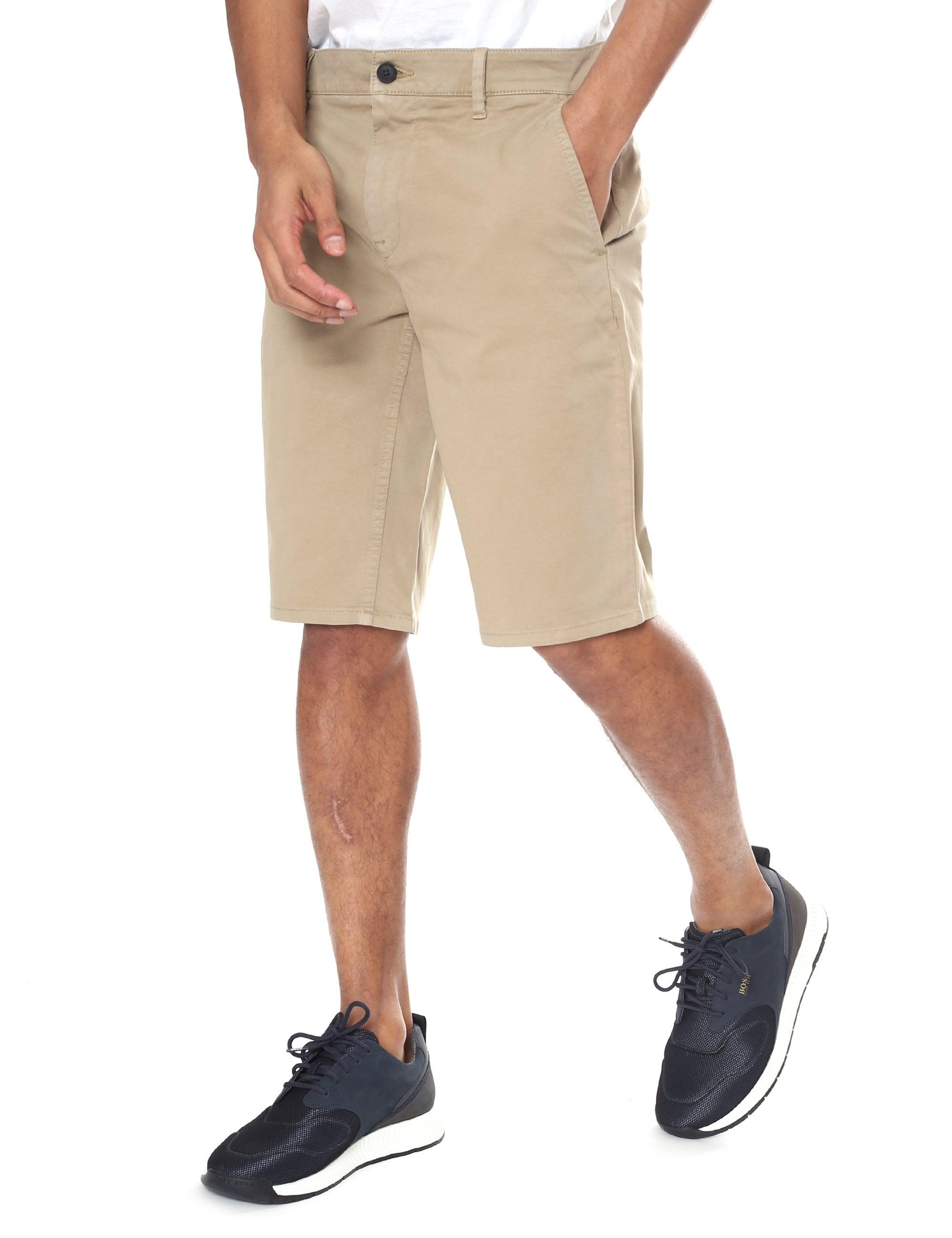 2924de84 BOSS Slim-fit Chino Shorts in Natural for Men - Lyst
