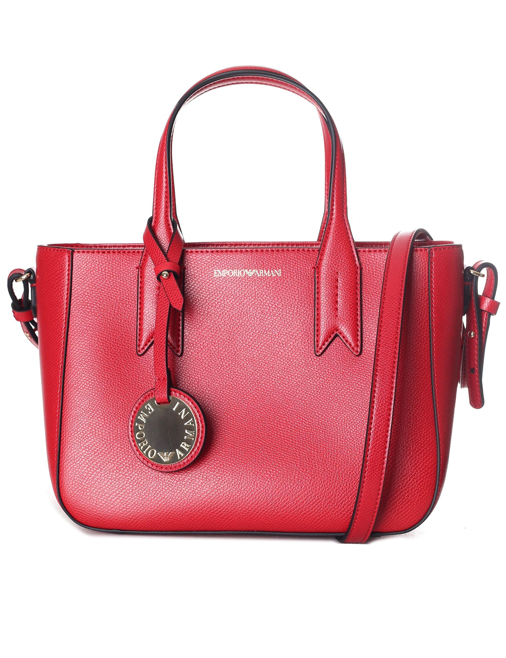 ced8ad02fc4 Emporio Armani Women s Shopping Tote Bag in Red - Lyst