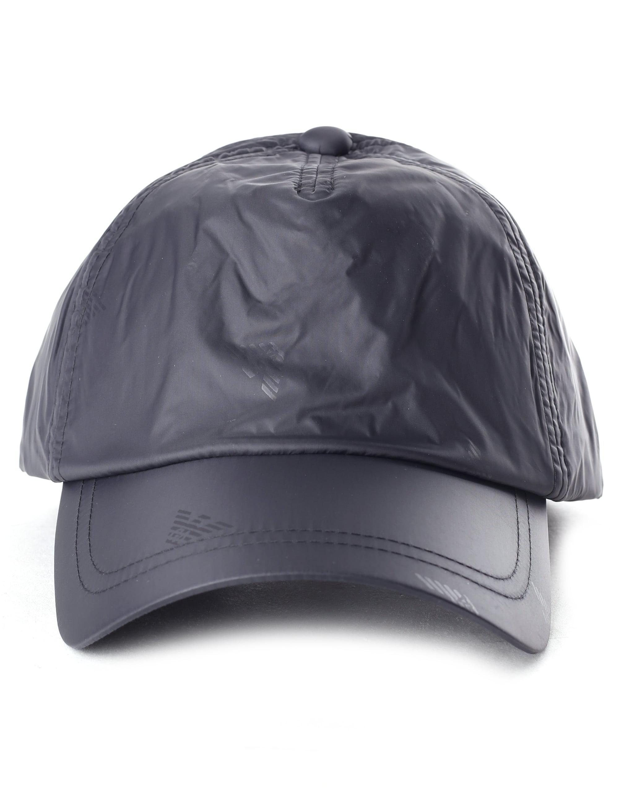 858c65b504b Emporio Armani Men s Repeat Logo Baseball Cap Black in Black for Men ...