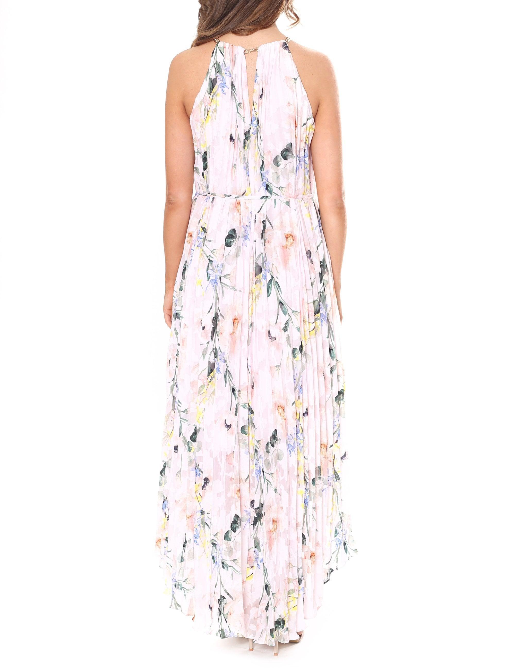 23632ee93 Ted Baker - Pink Valetia Elegance Pleat Dip Hem Dress - Lyst. View  fullscreen