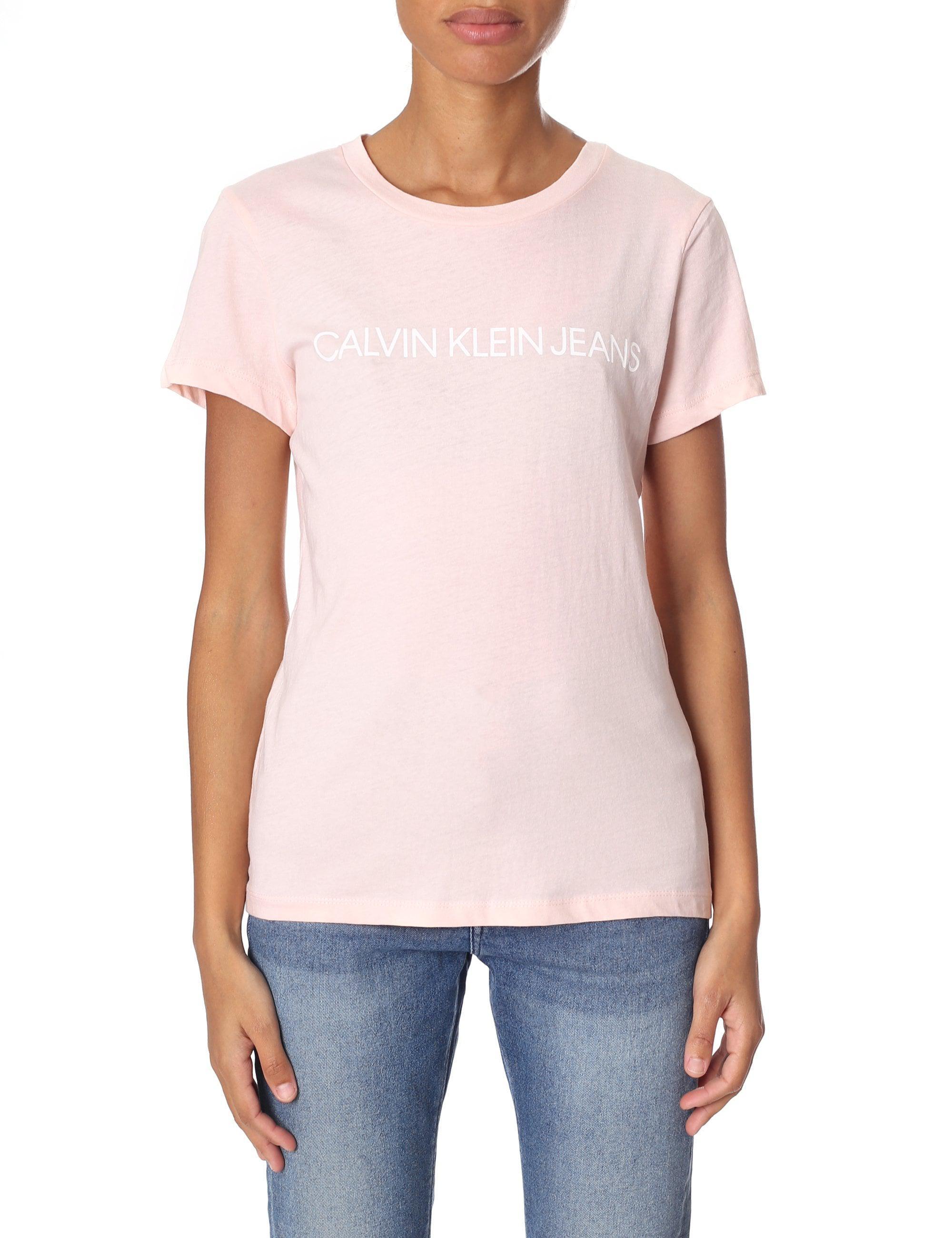 b758e8abb Calvin Klein Institutional Logo Tee in Pink - Lyst