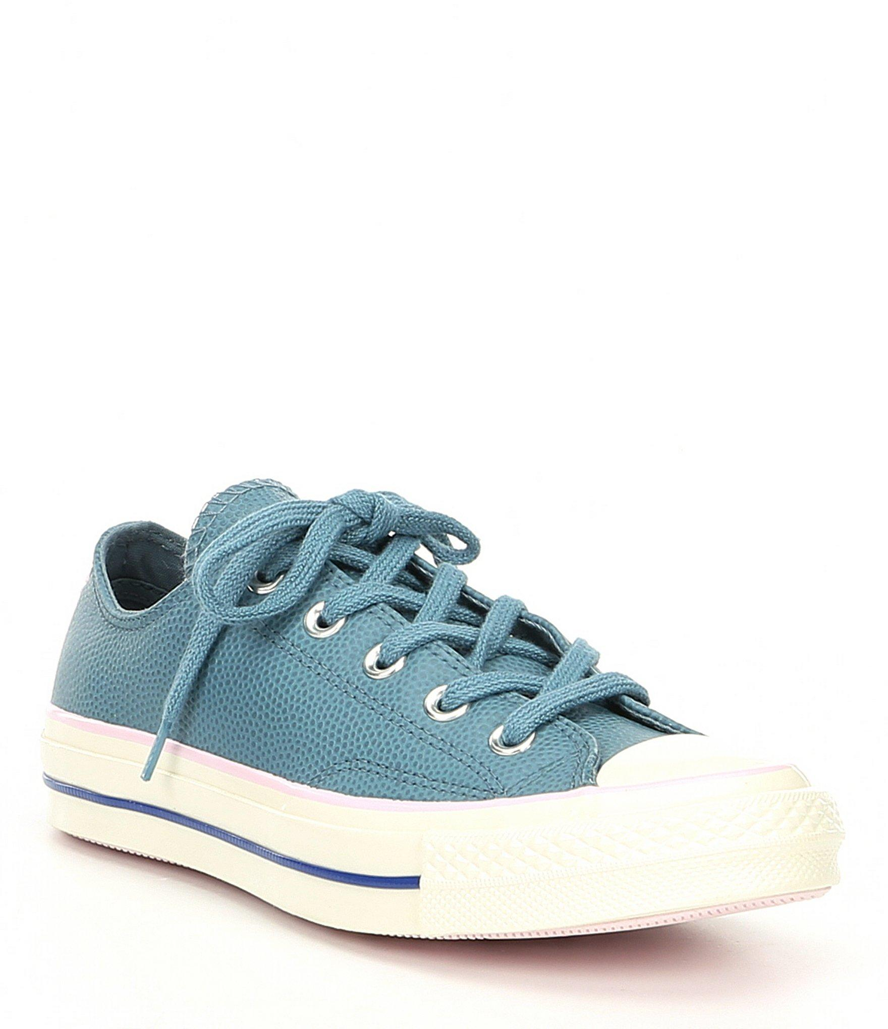 508421ca4702 Lyst - Converse Women s Pebble Leather Chuck 70 Pastel Low-top ...