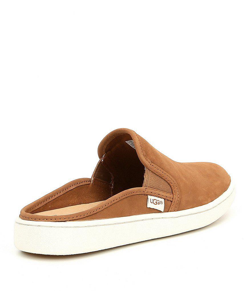 2814d41b4dc8 Lyst - UGG Gene Nubuck Slide Sneakers in Black for Men