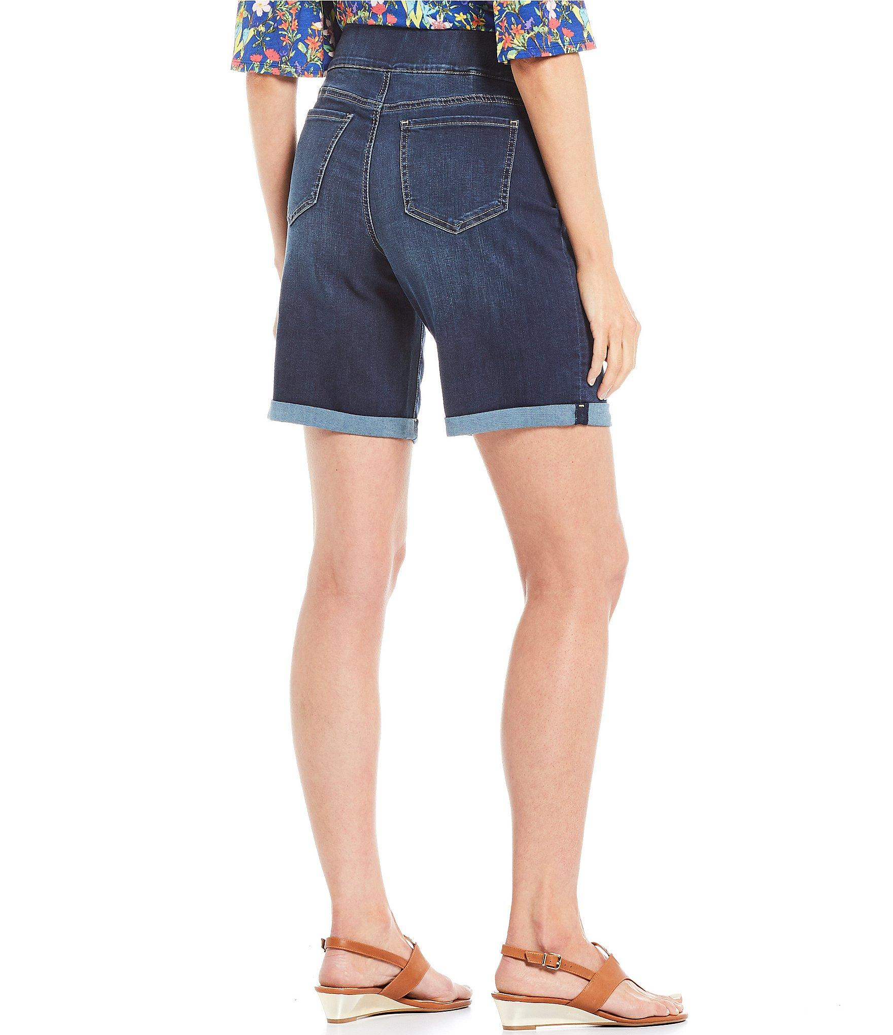0195cf275 NYDJ - Blue Pull-on Roll Cuff Denim Shorts - Lyst. View fullscreen