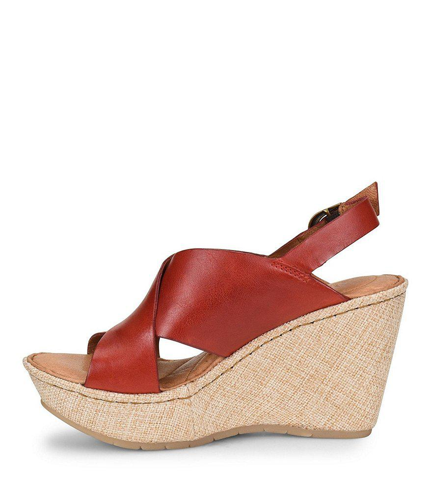 Emmy II Fabric Wrapped Wedge Sandals