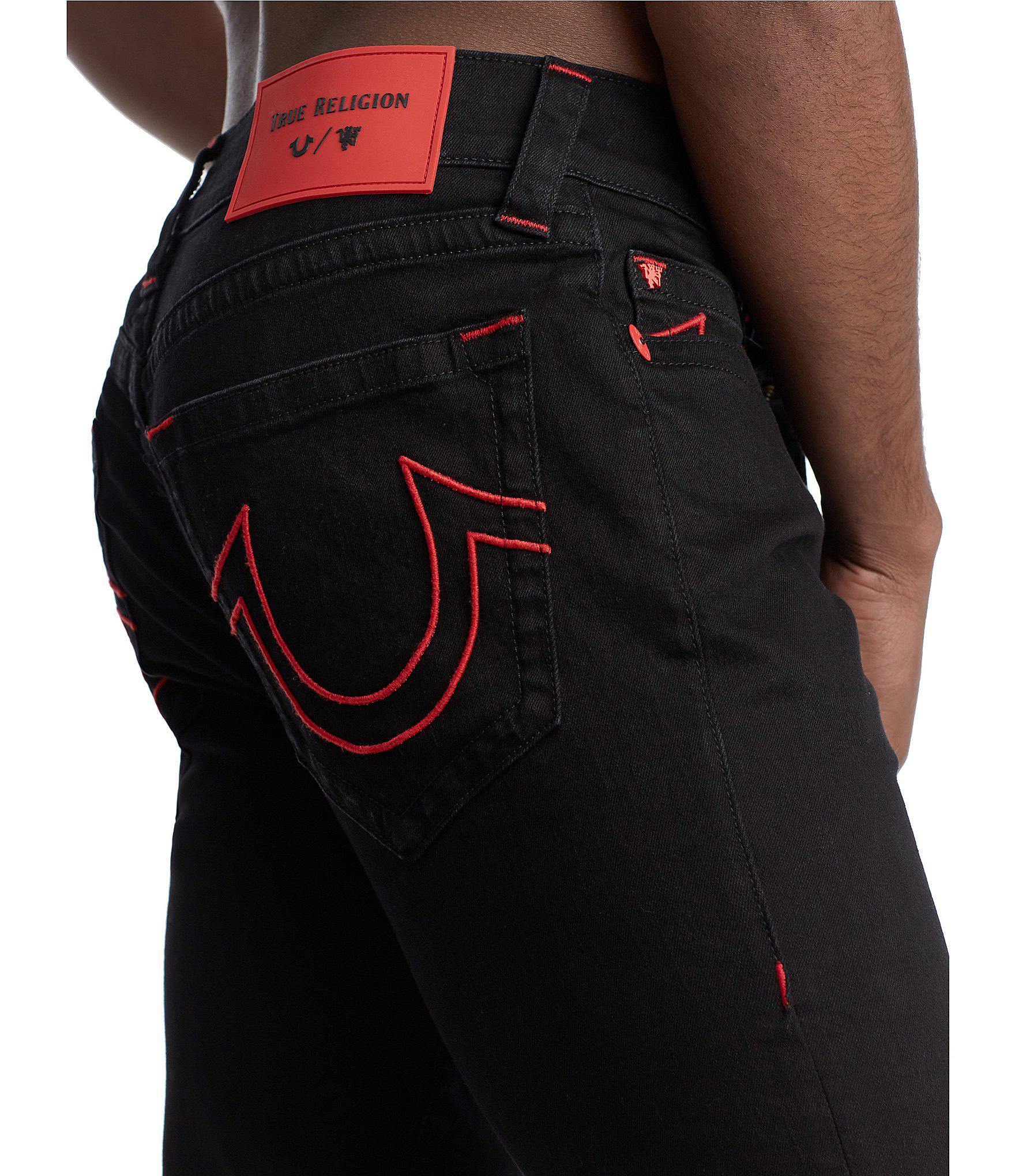 ee4284f24 True Religion - Black Manchester United Denim Collection Rocco Skinny Fit  Jeans for Men - Lyst. View fullscreen