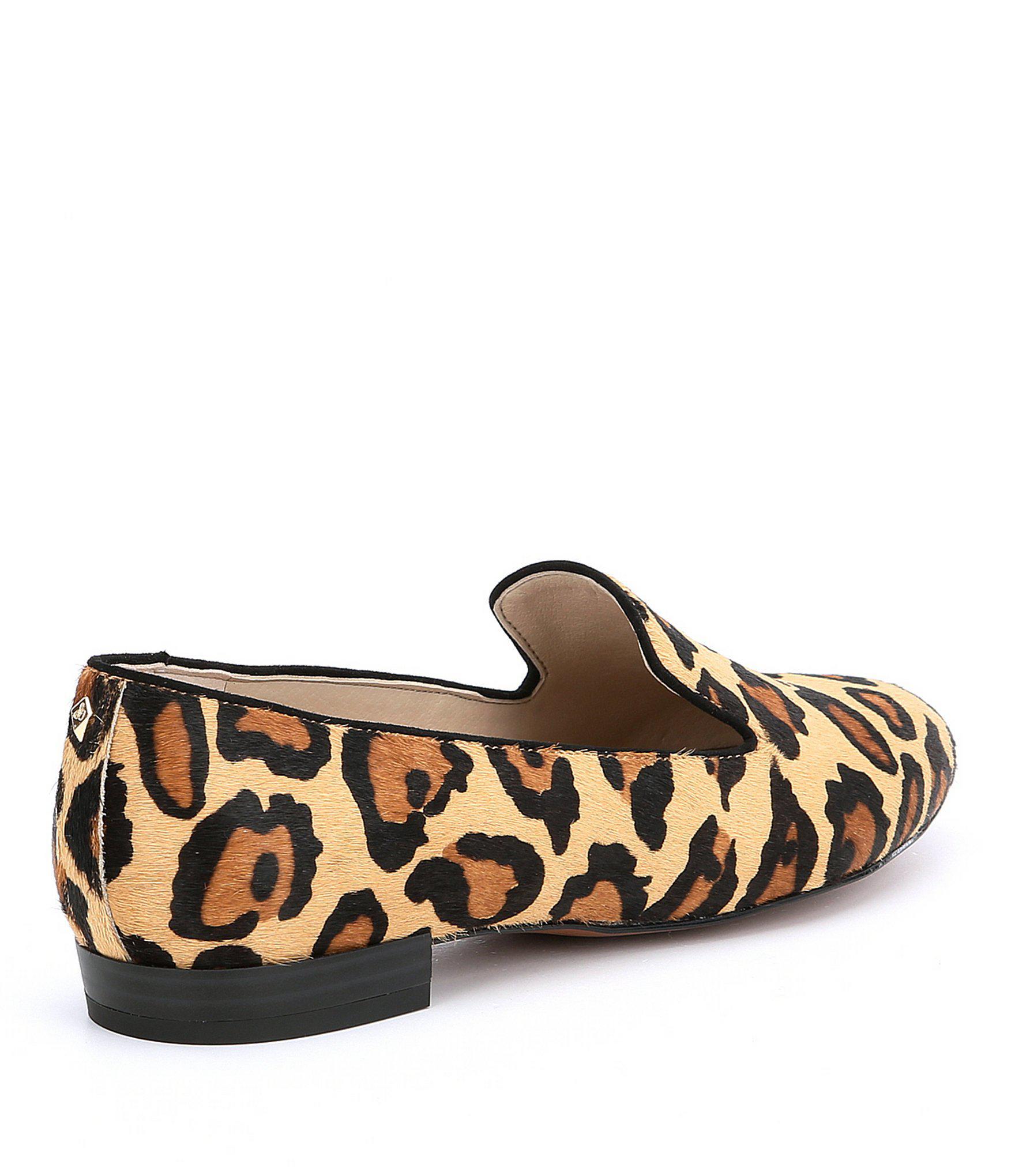 0d4d02c3c43f Lyst - Sam Edelman Jordy Leopard Brahma Hair Loafers in Brown