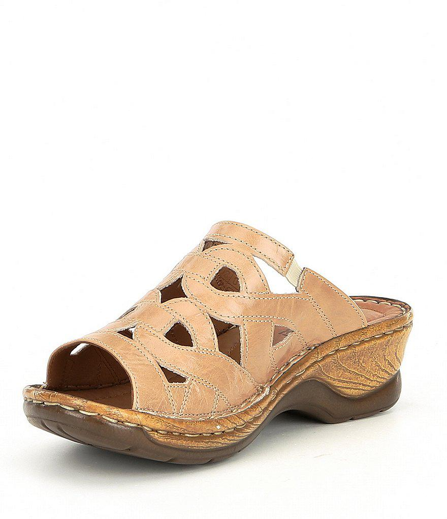 Catalonia 44 Slide-On Leather Sandals q9IIp6