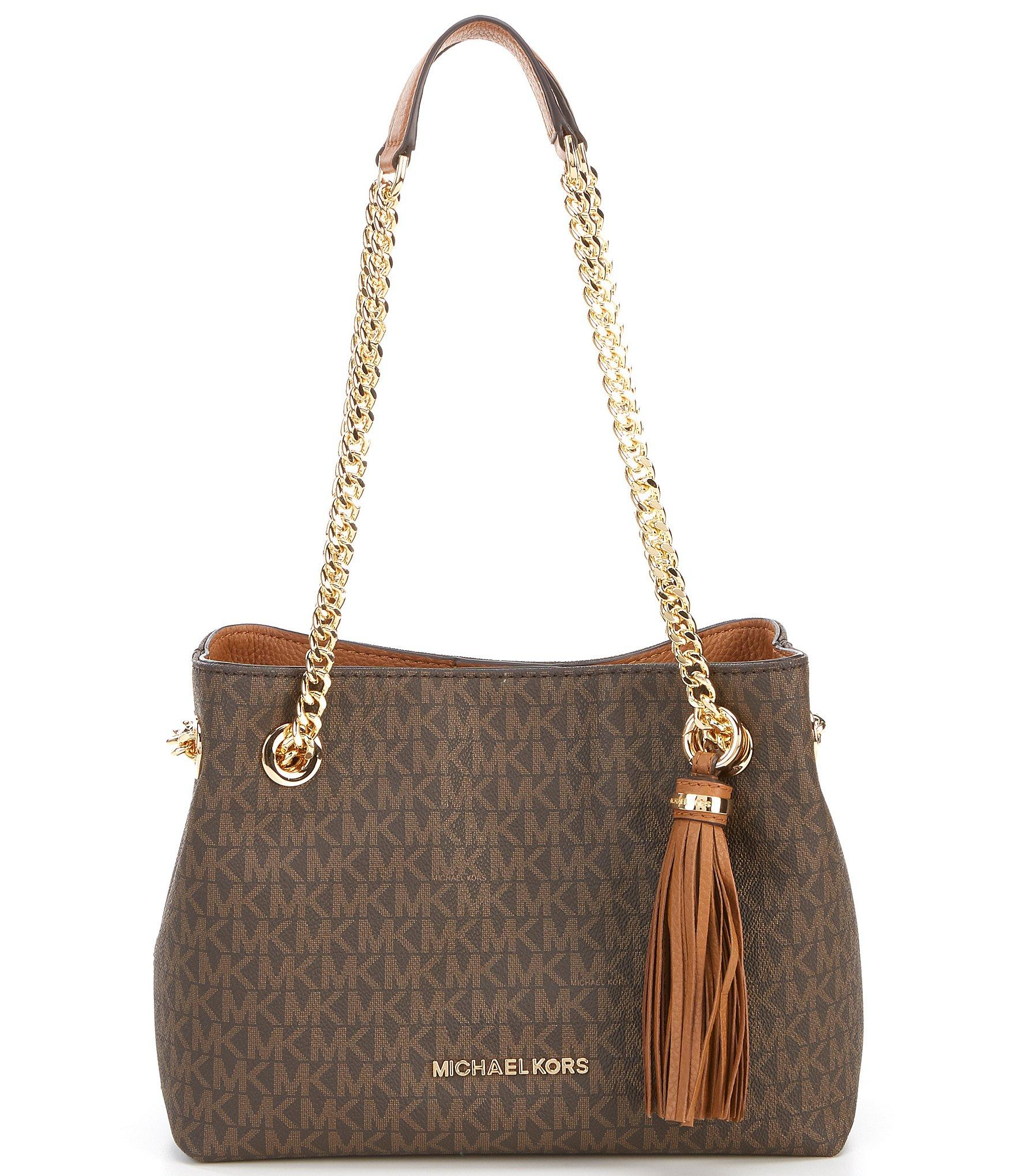 5520bc19e930 Lyst - MICHAEL Michael Kors Jet Set Chain Medium Messenger Bag in Brown