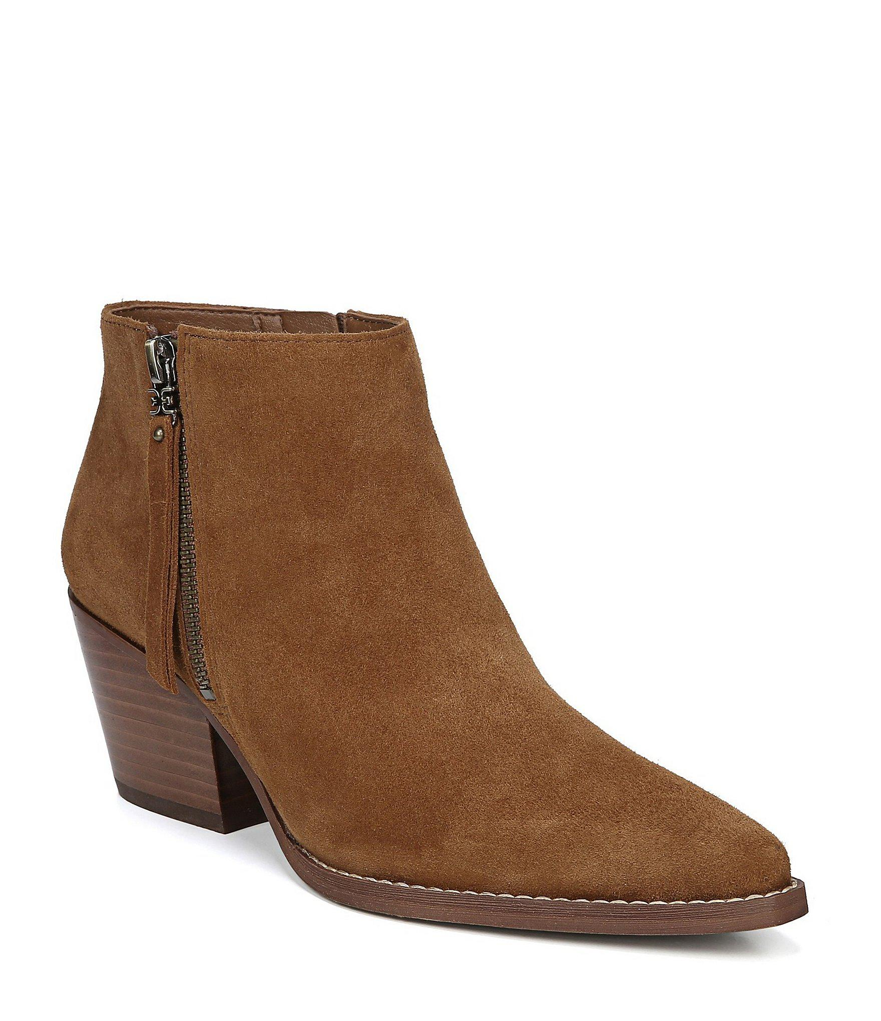 1cb5af1f5 Lyst - Sam Edelman Walden Suede Block Heel Booties in Brown