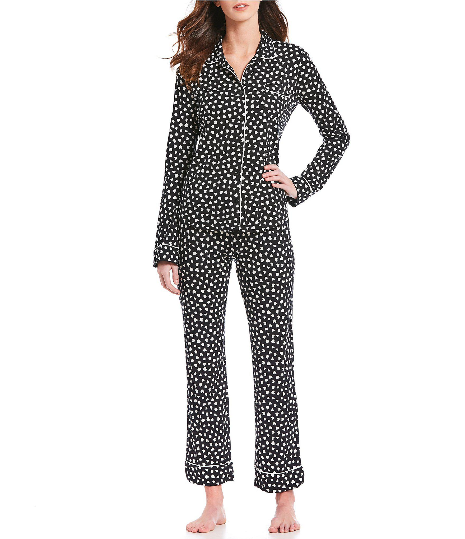 a4377fad361 Lyst - Pj Salvage Heart-print Modal Pajamas in Black