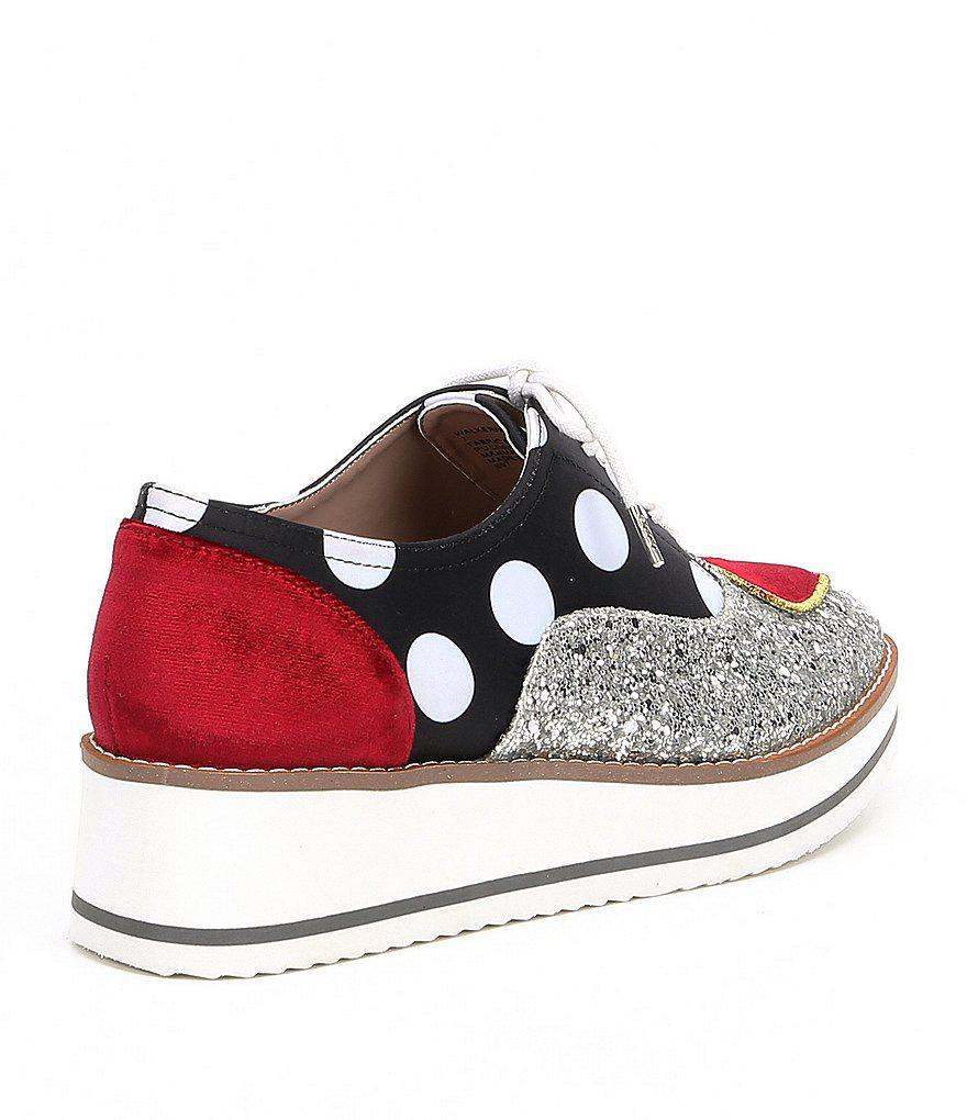 ccb53a210a9b Lyst - Betsey Johnson Walker Glitter Heart Patch Sneakers