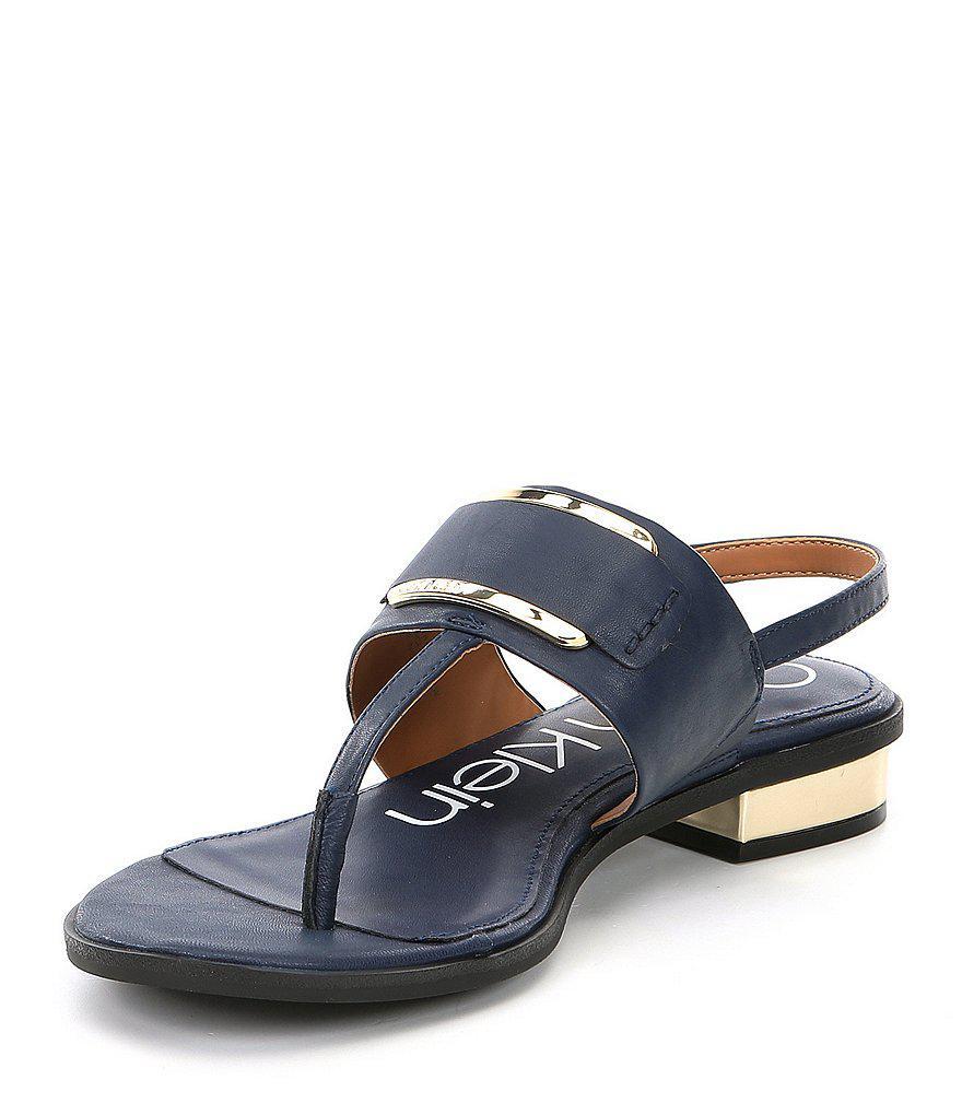 Calvin Klein Freida Deco Buckle Sandals Q9TECuS