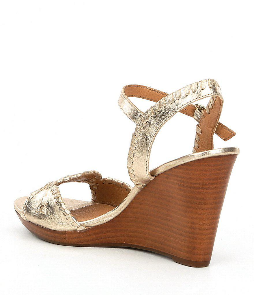 Clare Leather Rondelle Whiplacing Wedges ZUAEccfmj