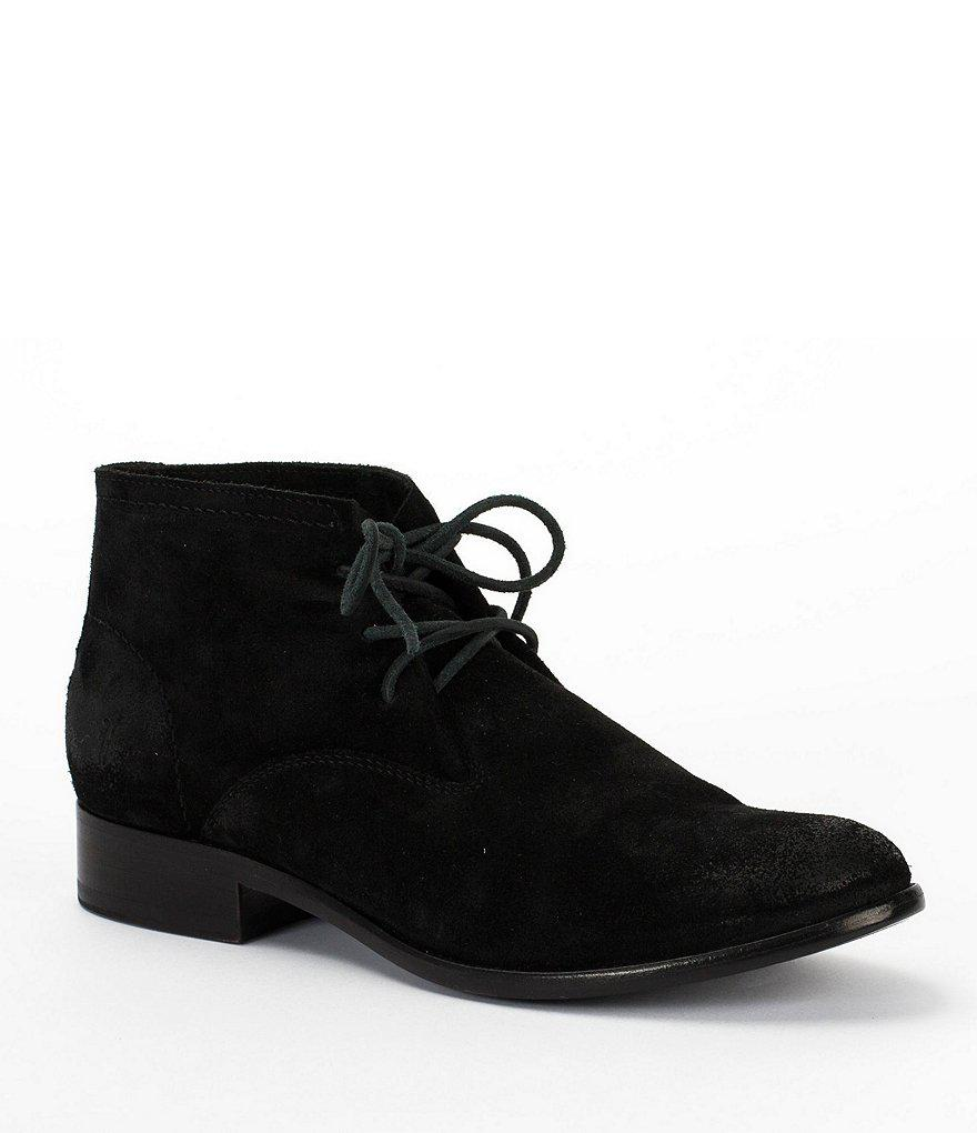 Carly Suede Chukka Block Heel Booties Ca6puLgvq