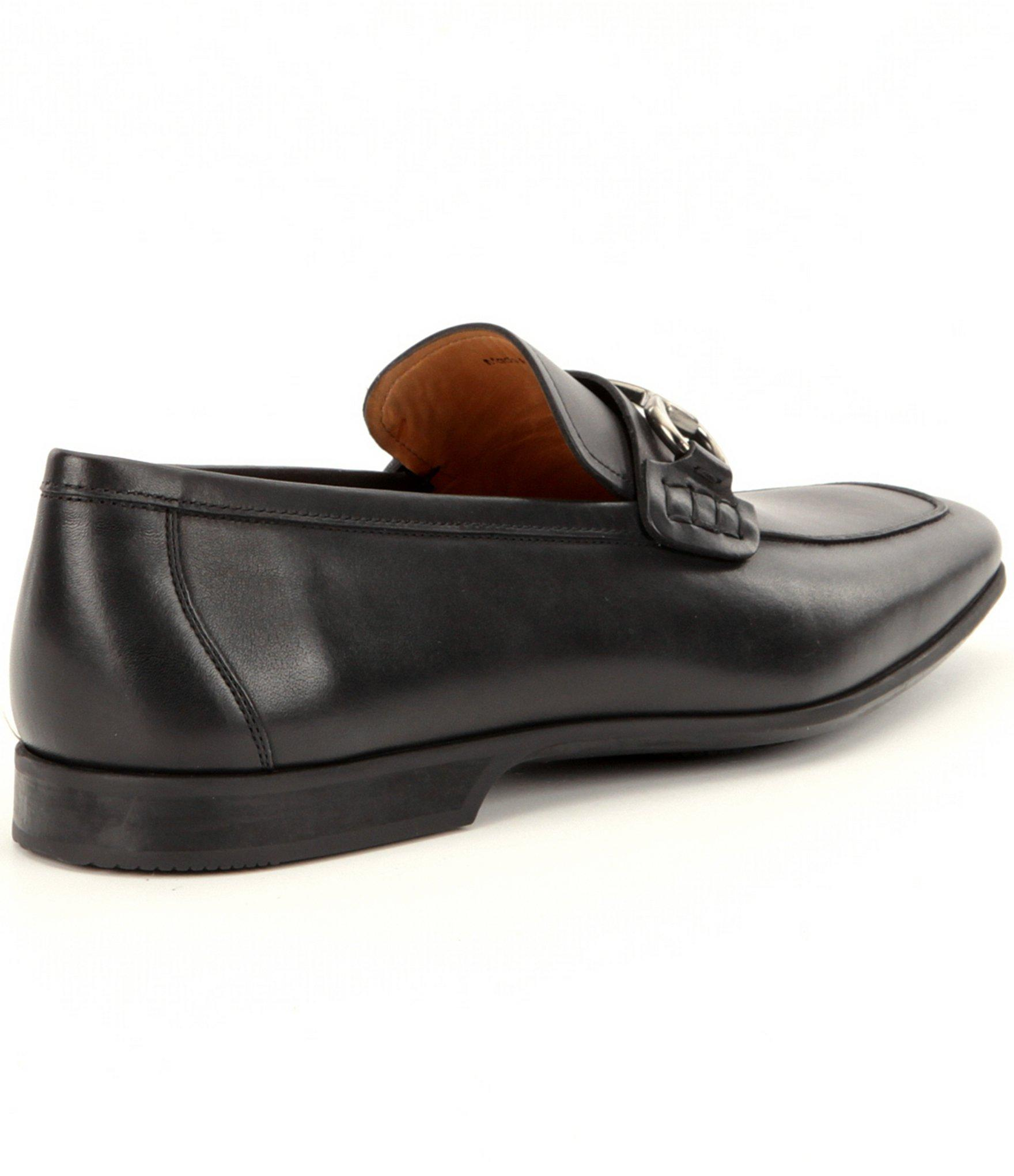 8a98ed1d87a53 Black Men's Rafa 2 Leather Bit Buckle Detail Moc-toe Dress Shoes
