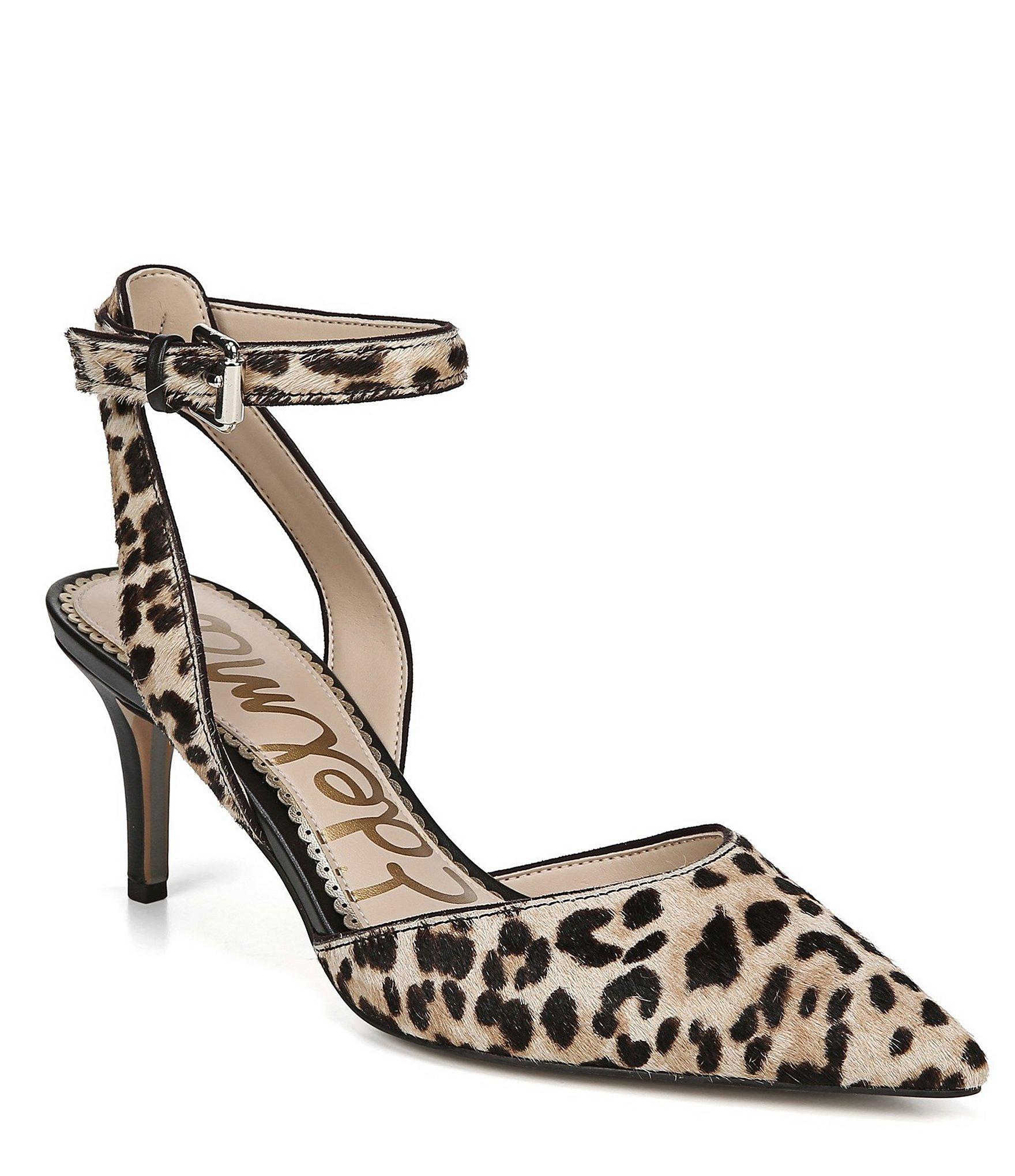 7017f9bfb4a Lyst - Sam Edelman Jelena Leopard Print Calf Hair Dress Pumps