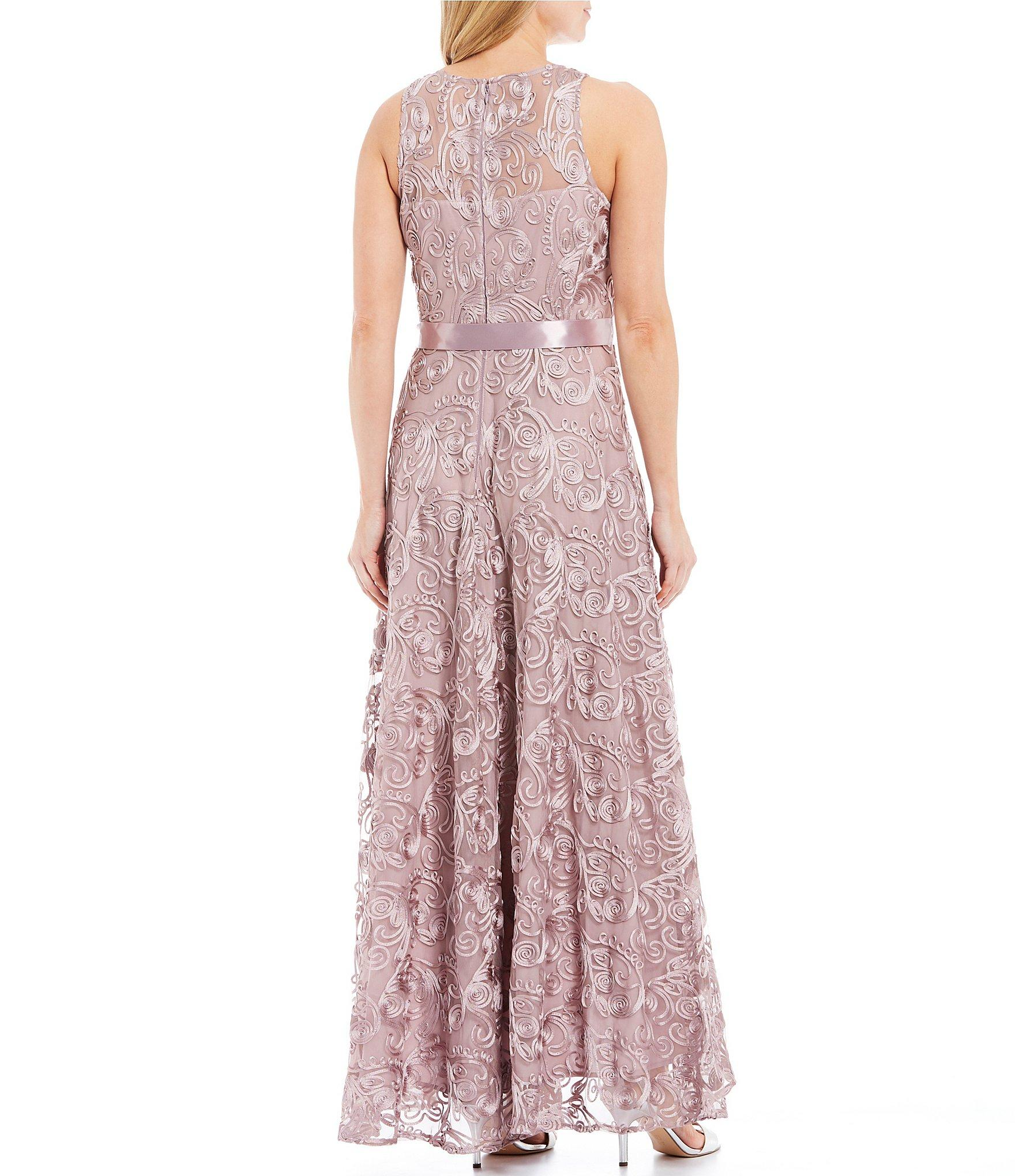a0bb5832636 Tahari - Purple Petite Size Embroidered Lace Gown - Lyst. View fullscreen