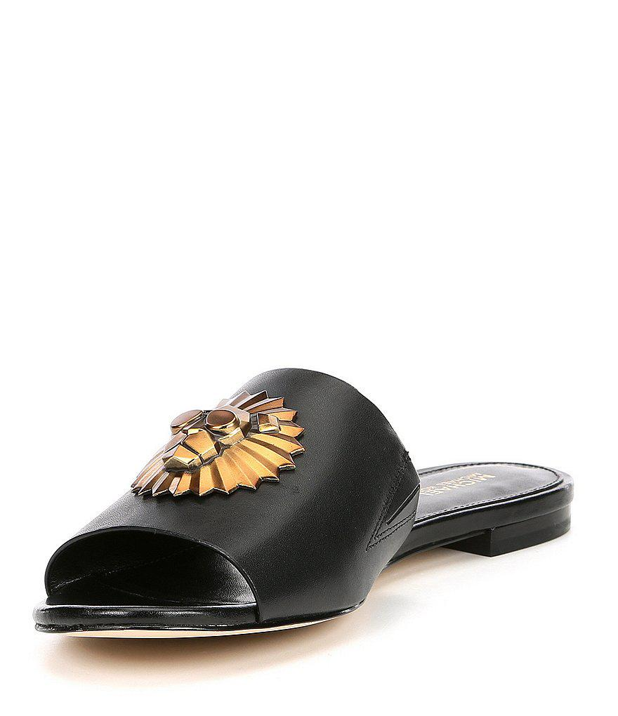 Shelly Leather Slide Sandals euRXu0bBHW