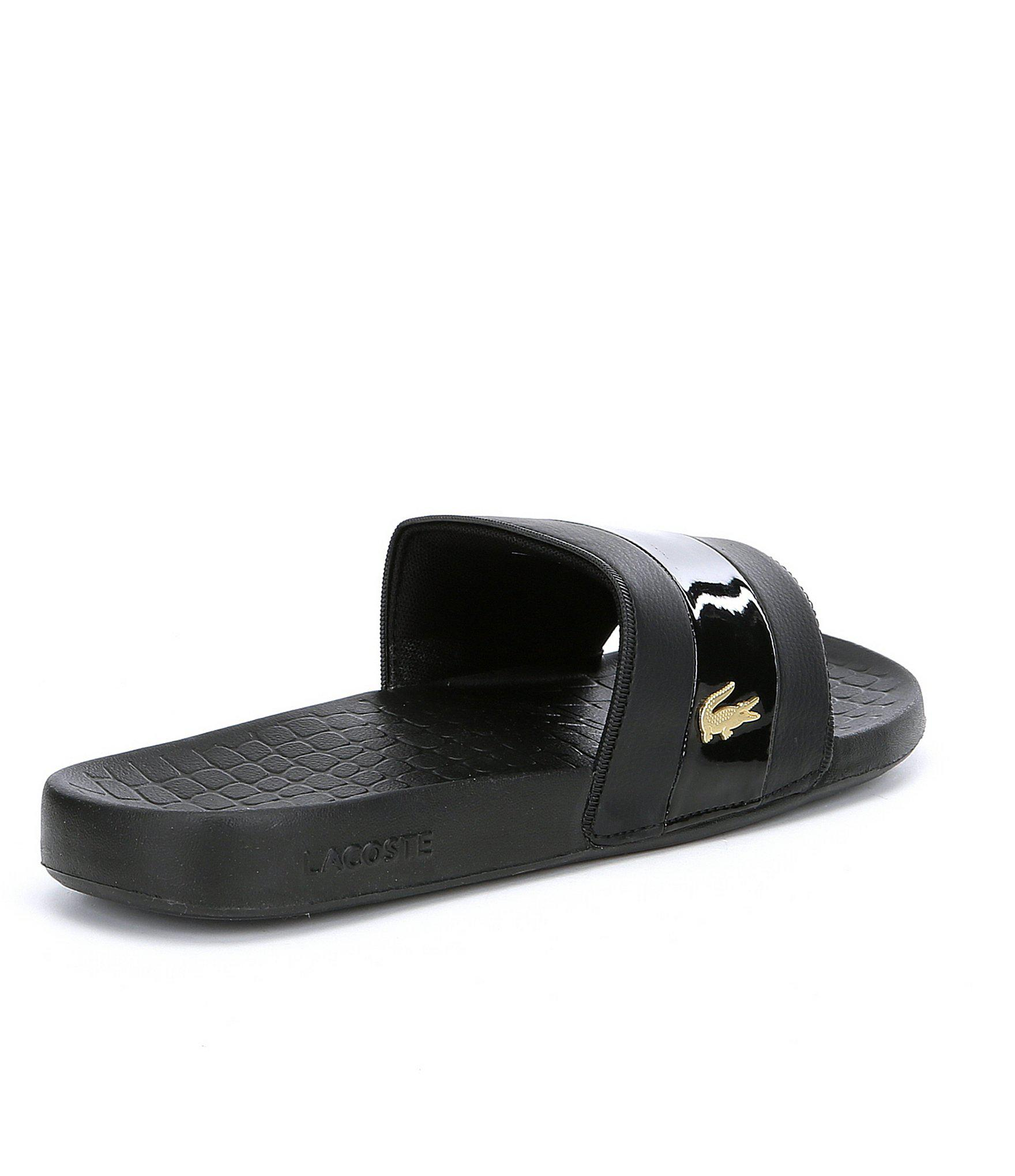 1a4447812701 Lacoste - Black Men s Fraisier 118 Sandals for Men - Lyst. View fullscreen