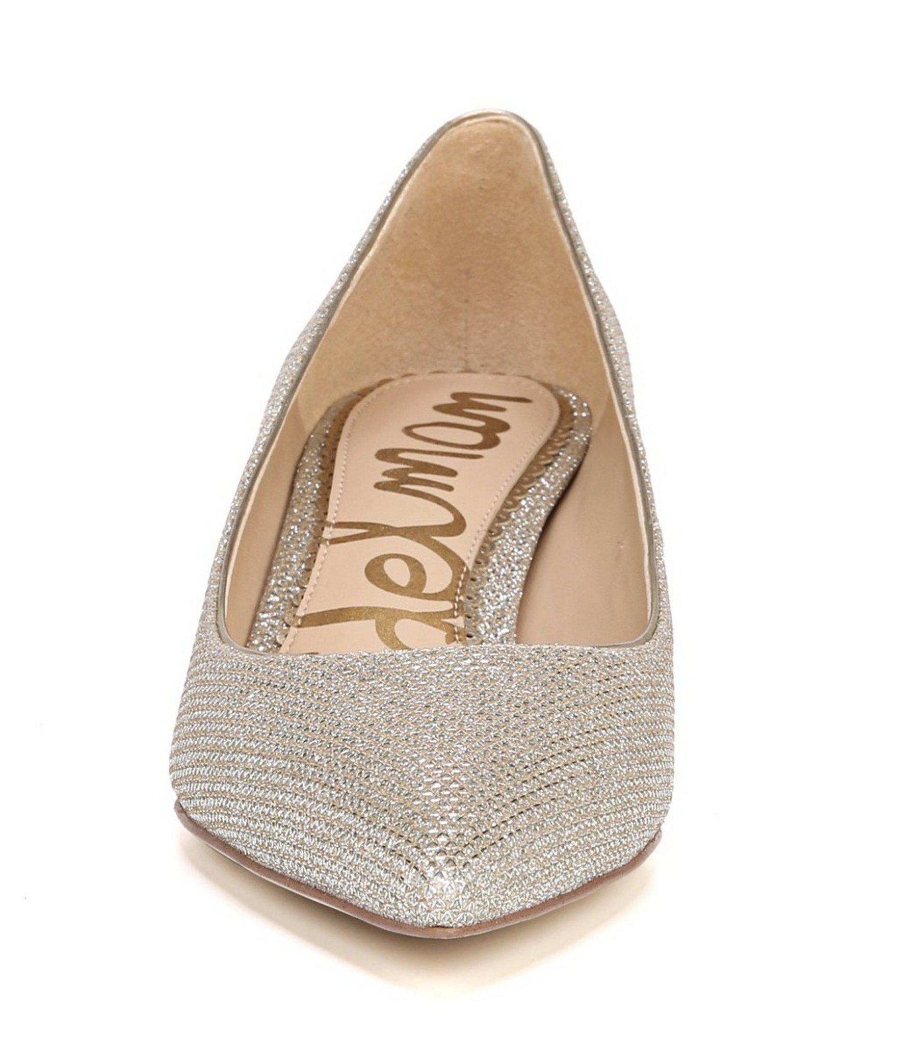 4fa35040d2 Sam Edelman Dori Metallic Glam Mesh Kitten Heel Dress Pumps in ...