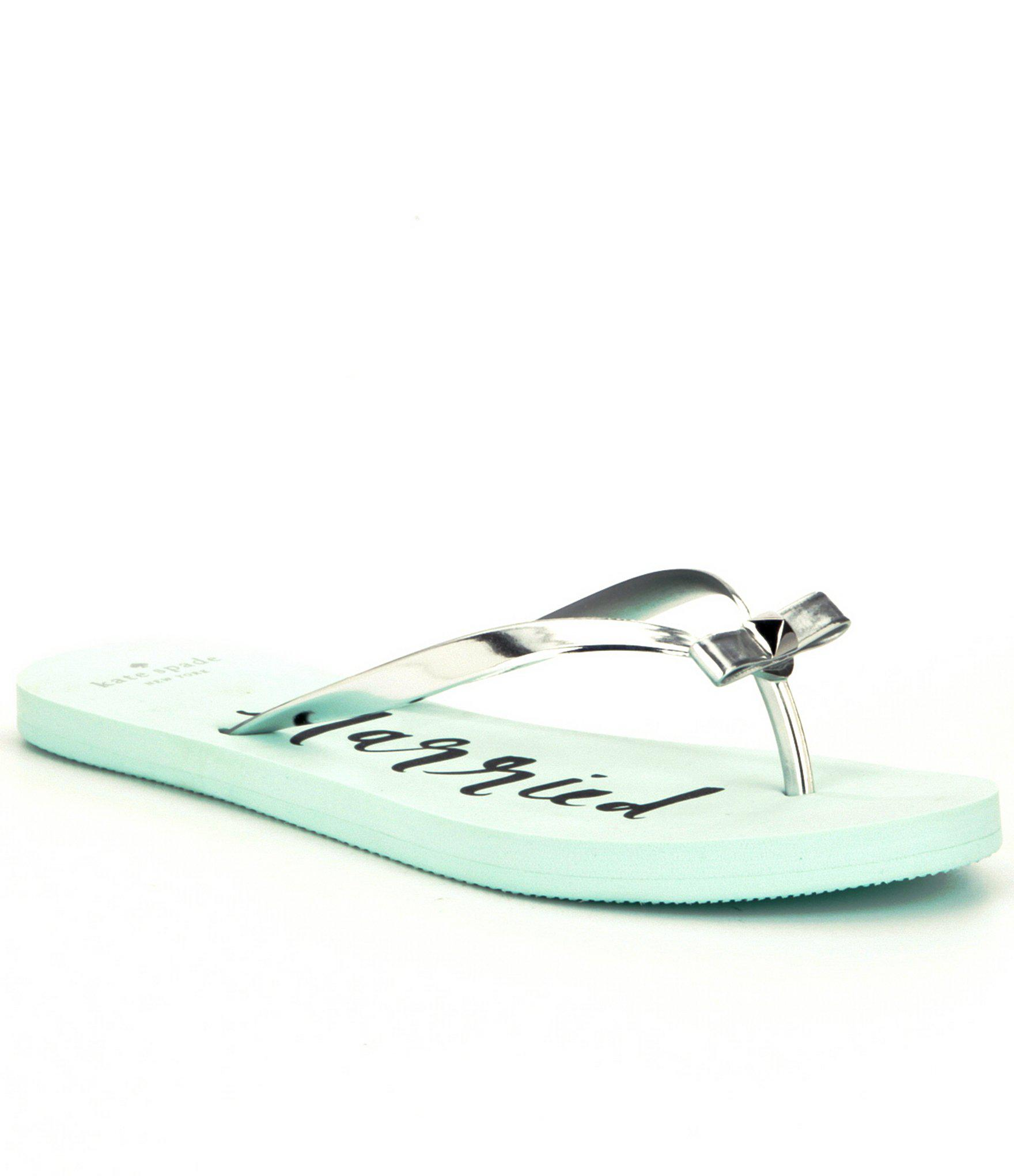 5f72d735e993 Lyst - Kate Spade Nadine Metallic Flip-flop Sandals in Blue