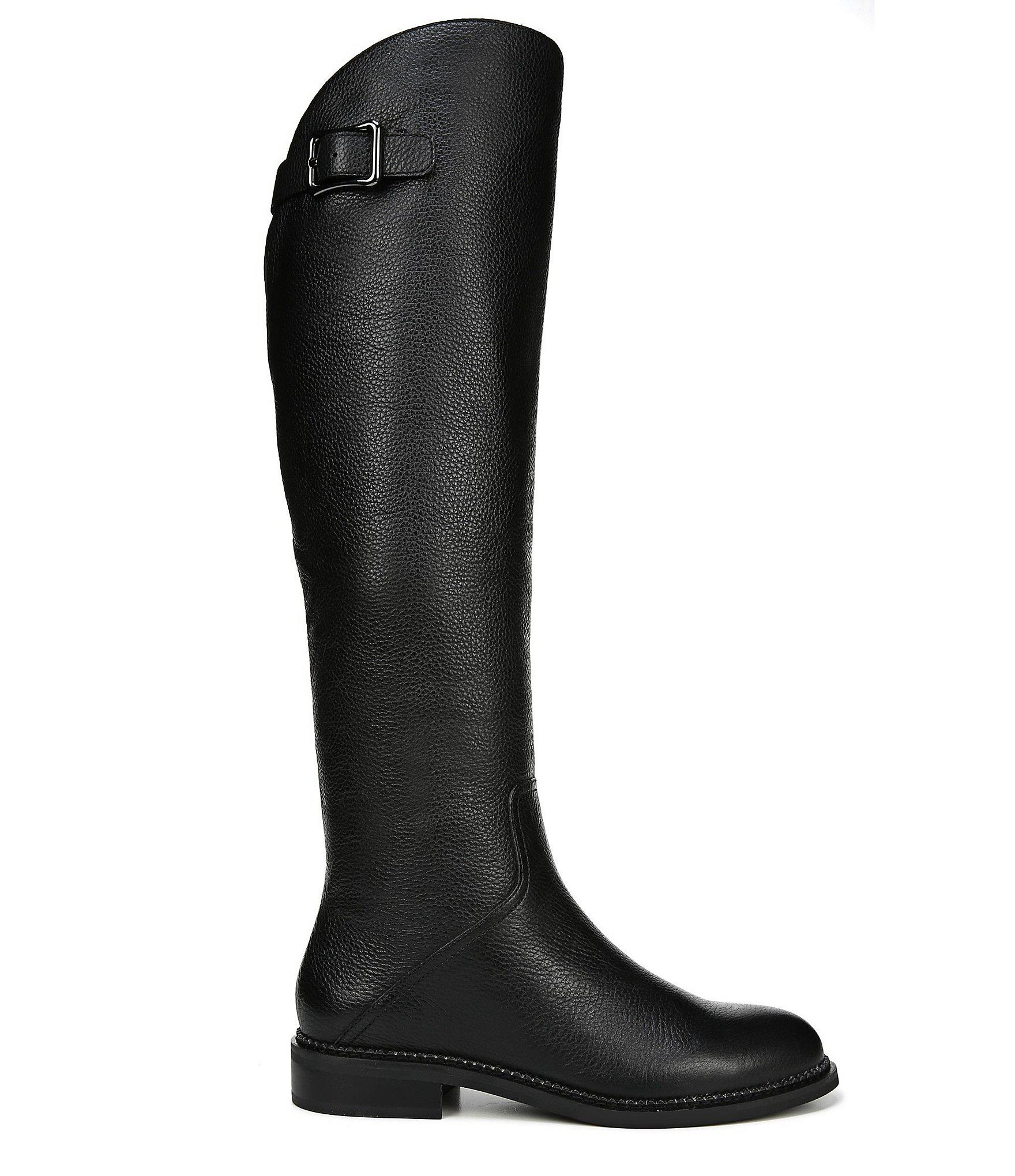 af6bf00b3bb Franco Sarto Halloway Leather Over The Knee Boots in Black - Lyst