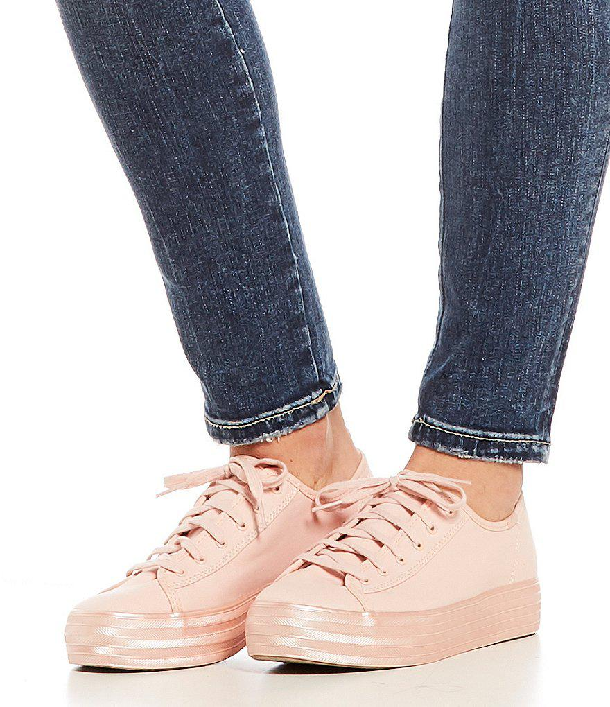 9ef37f5d6db Lyst - Keds Triple Kick Shimmer Sneakers in Pink