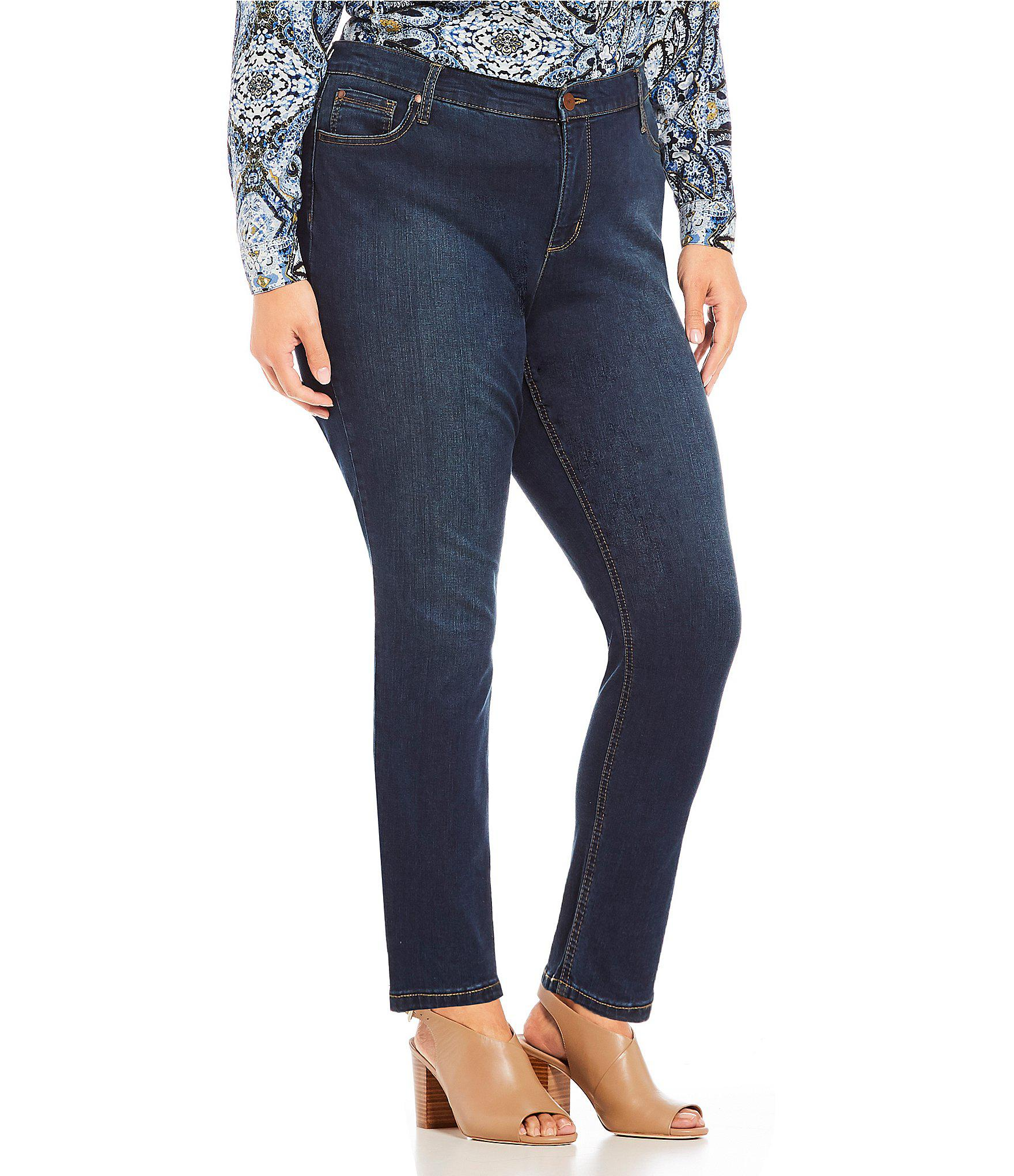 73e7cc28a9ebe Lyst - Jones New York Plus Size Lexington Curvy Skinny Jean in Blue