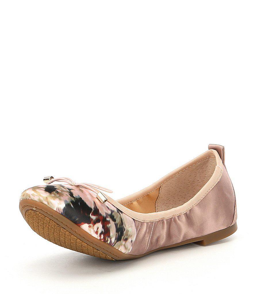 Nalan Satin Floral Ballet Flats EUfd17N