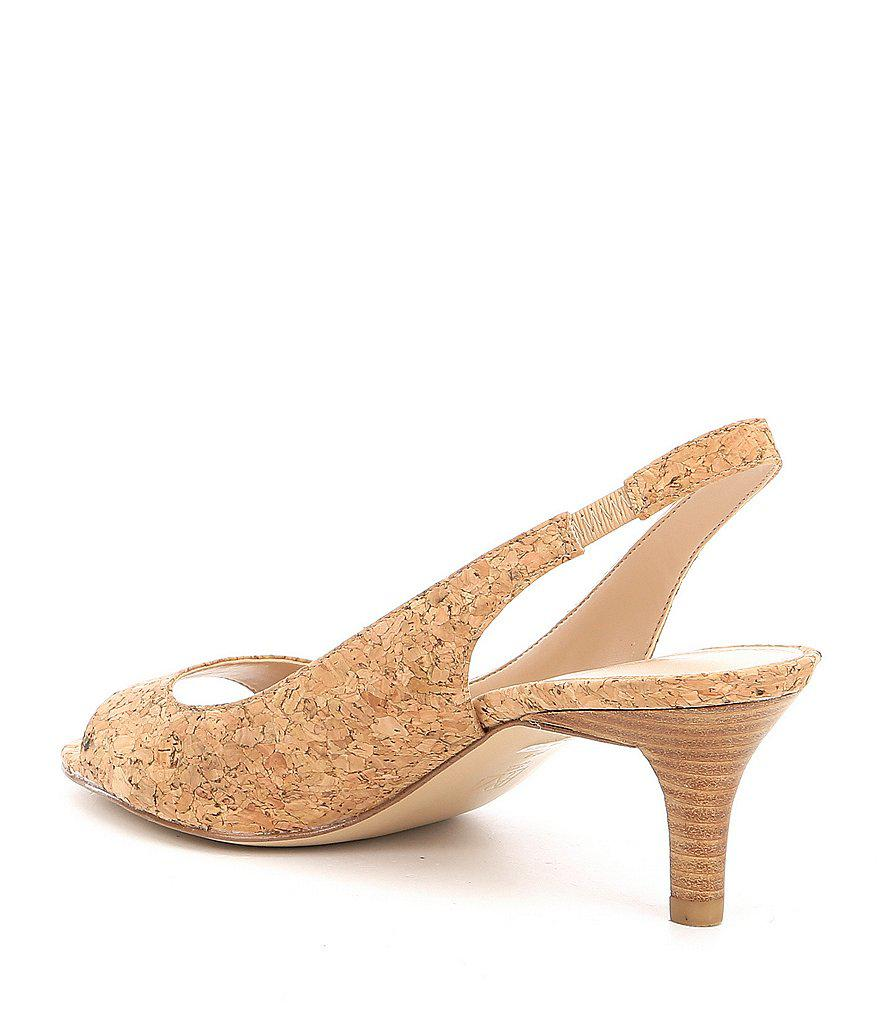 Pelle Moda Belini Cork Slingback Dress Sandals