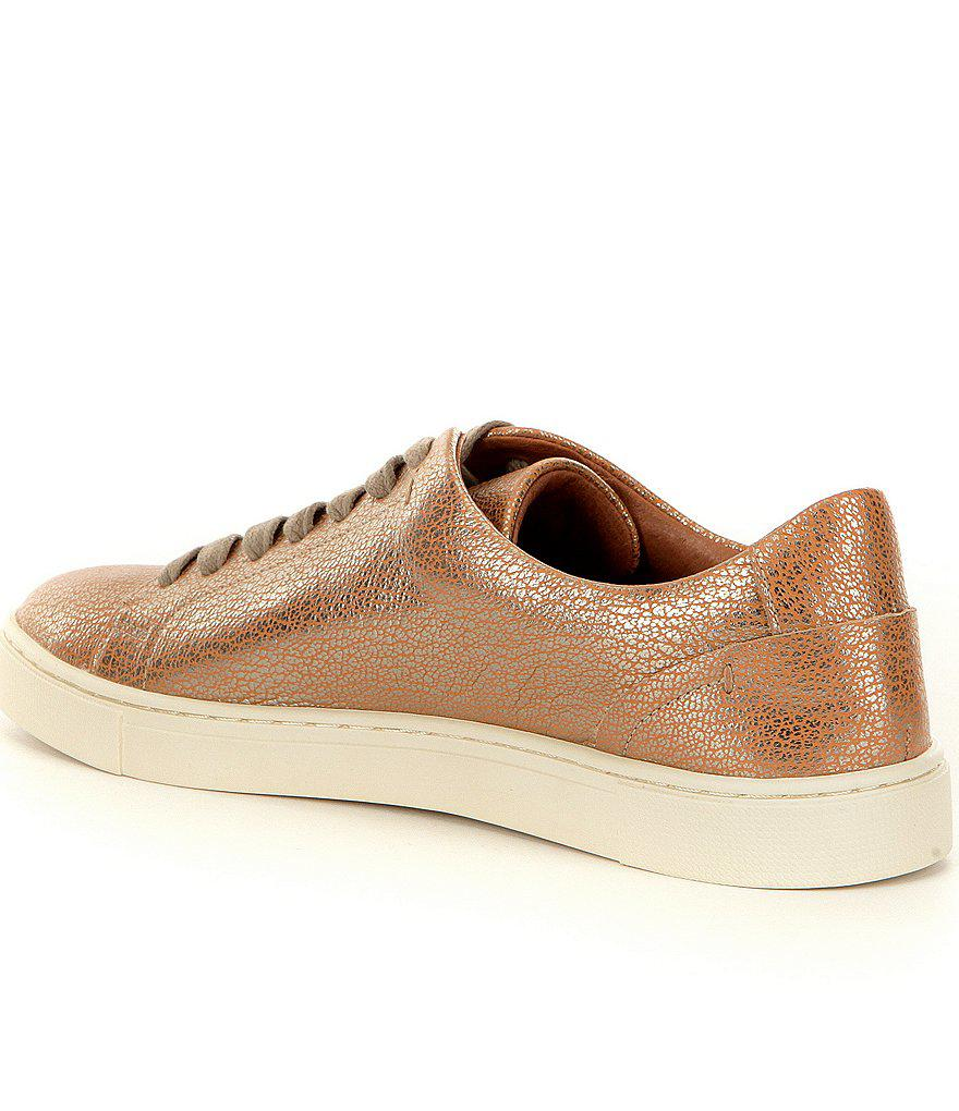 Frye Ivy Metallic Leather Low Lace-Up Sneakers vBQLIgVna