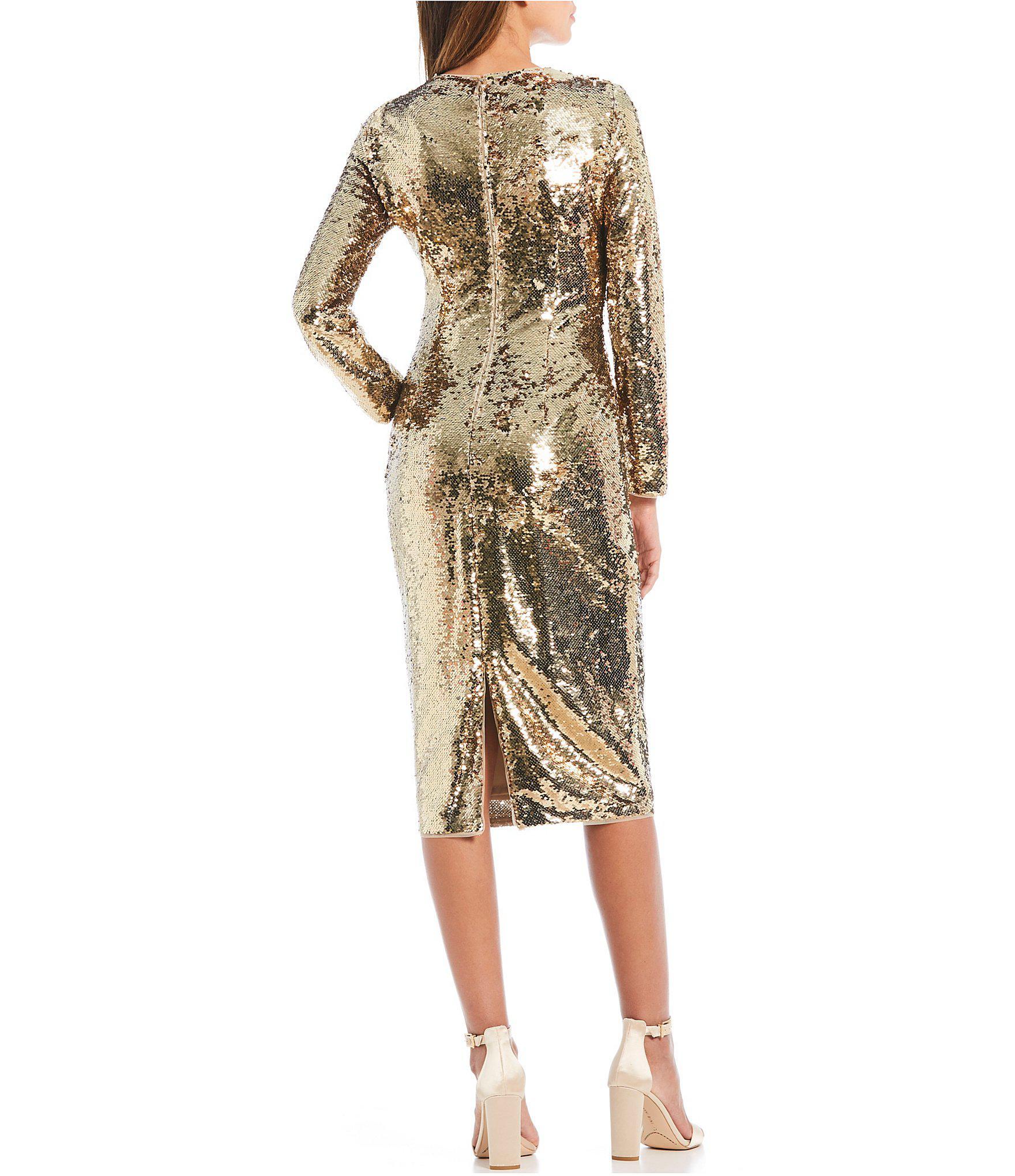 481cd86ce0 Gianni Bini Zoe Metallic Sequin Midi Dress in Metallic - Lyst