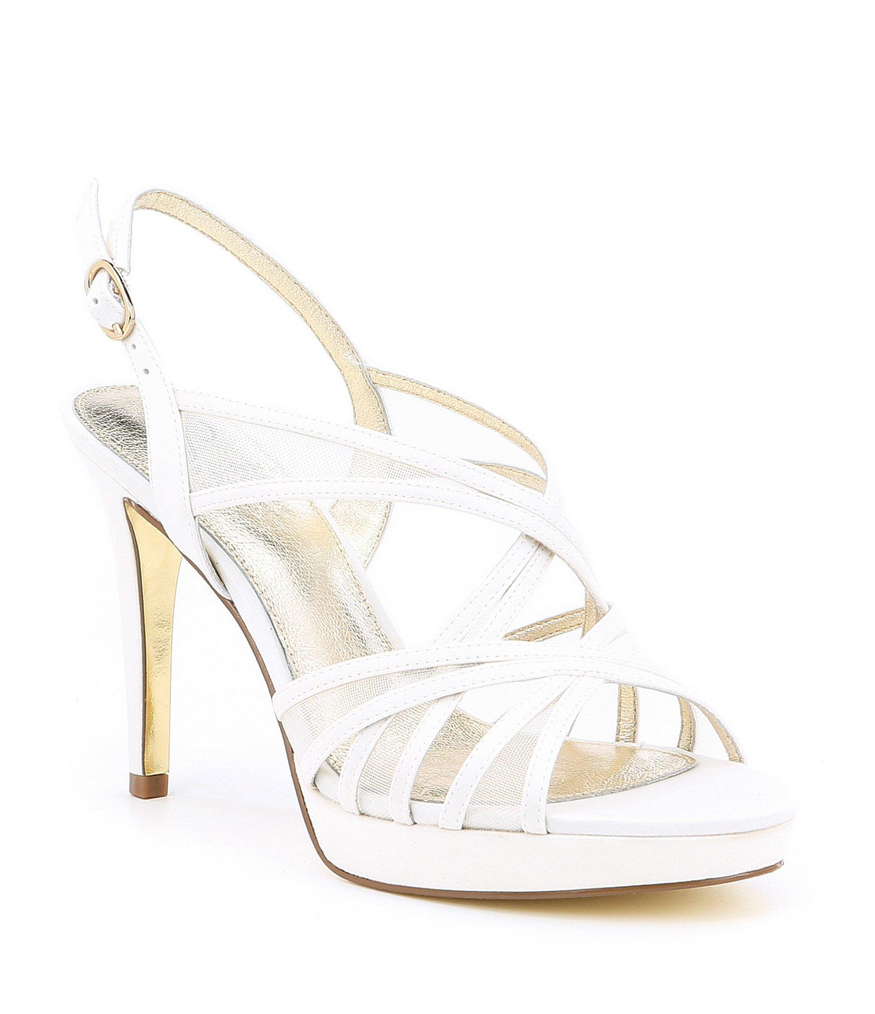af17315a1aa Lyst - Adrianna Papell Adri Satin And Mesh Strappy Dress Sandals in ...