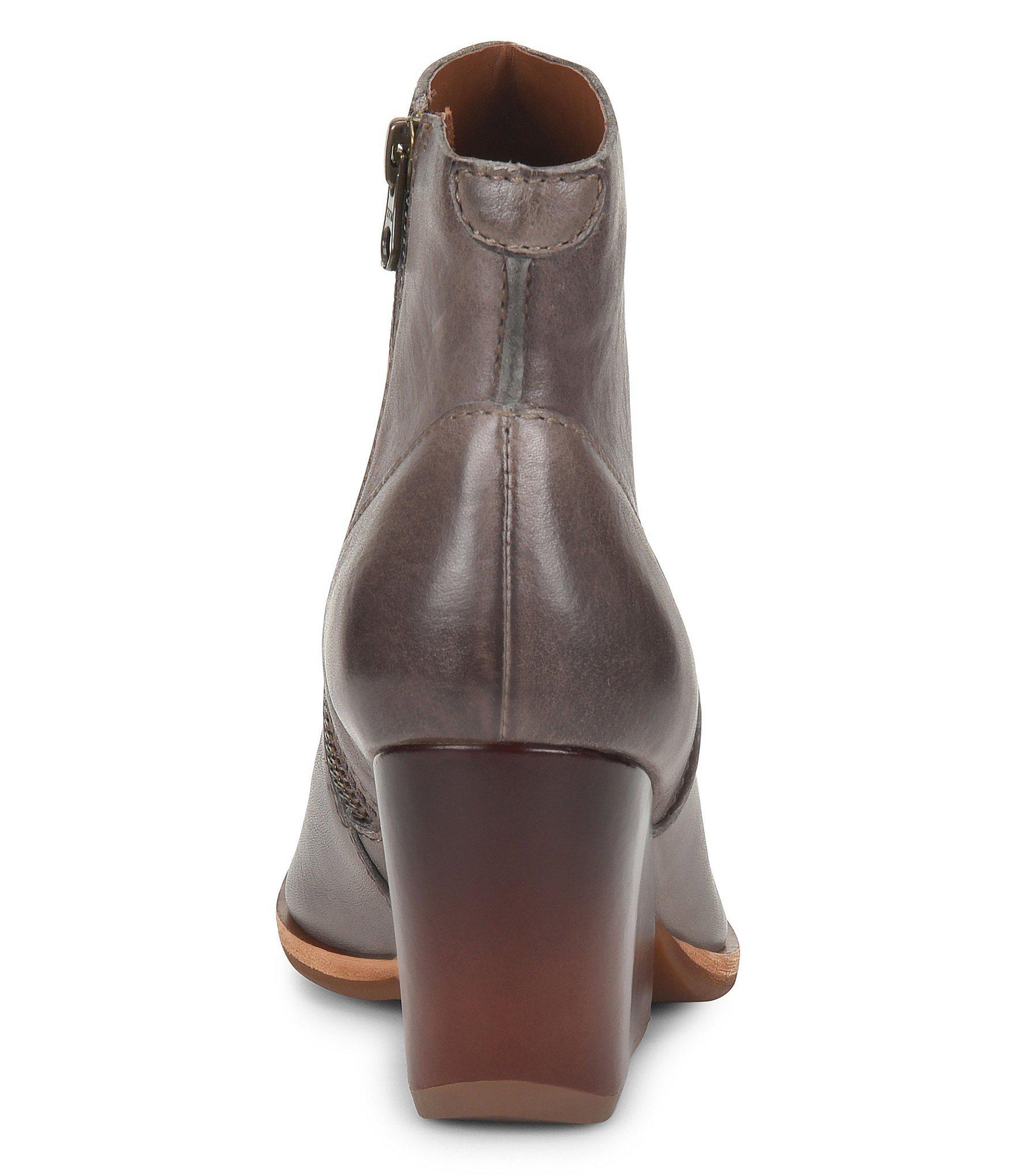 1f247f72f412 Kork-Ease - Gray Michelle Leather Block Heel Booties - Lyst. View fullscreen