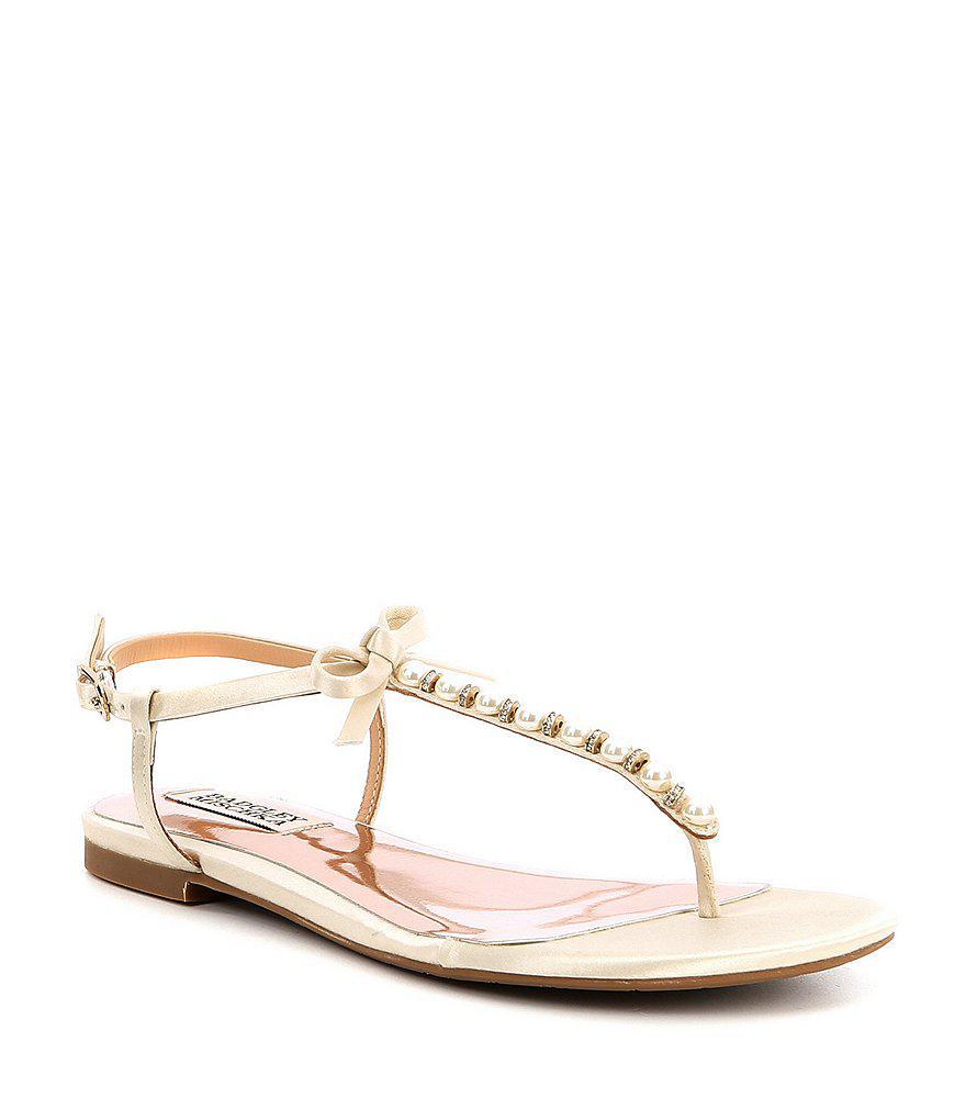Honey Satin Pearl Sandals dVGBMJ3lHe