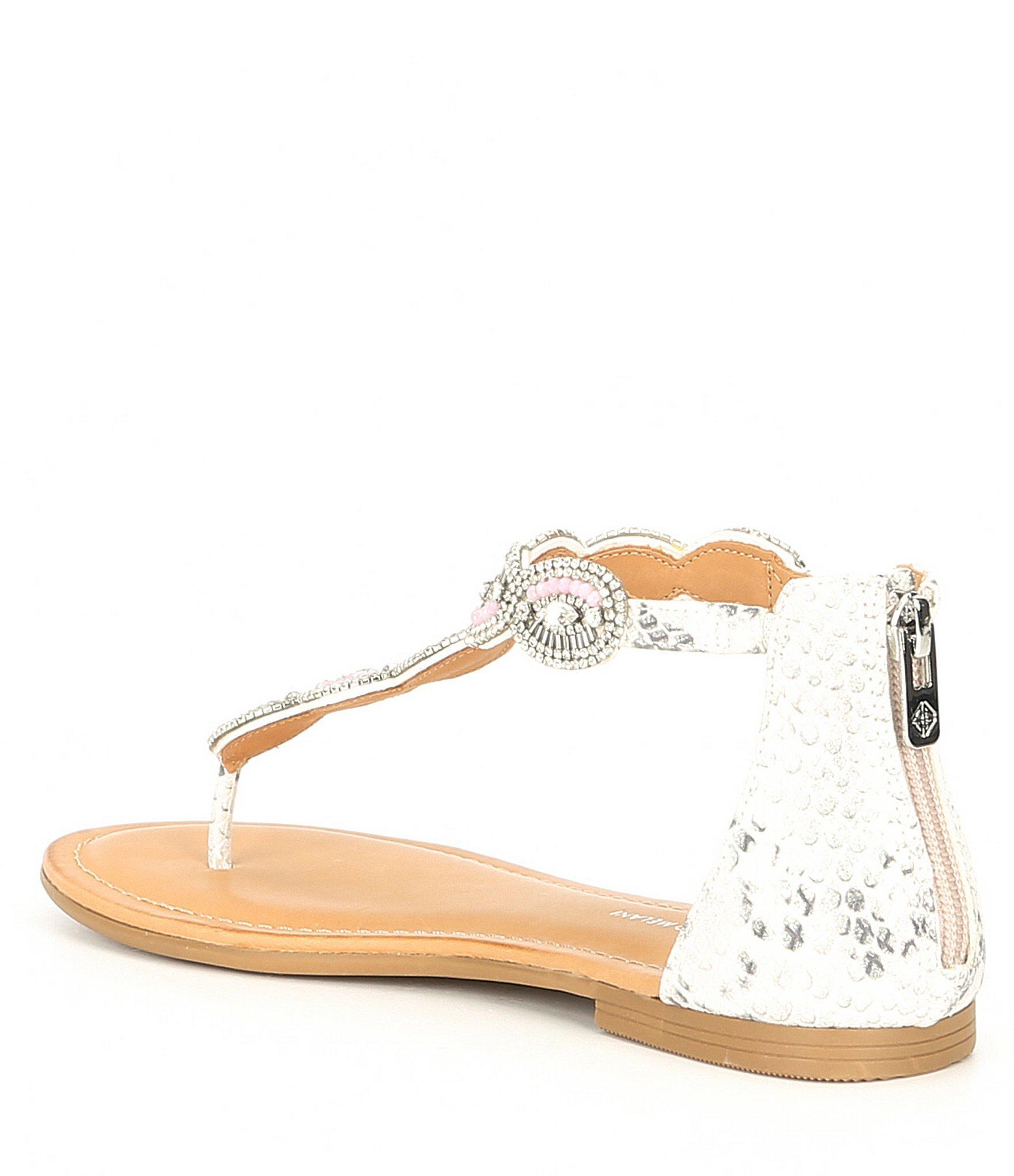 8f279393c7f1 Antonio Melani - Multicolor Lillio Foiled Metallic Leather Thong Sandals -  Lyst. View fullscreen