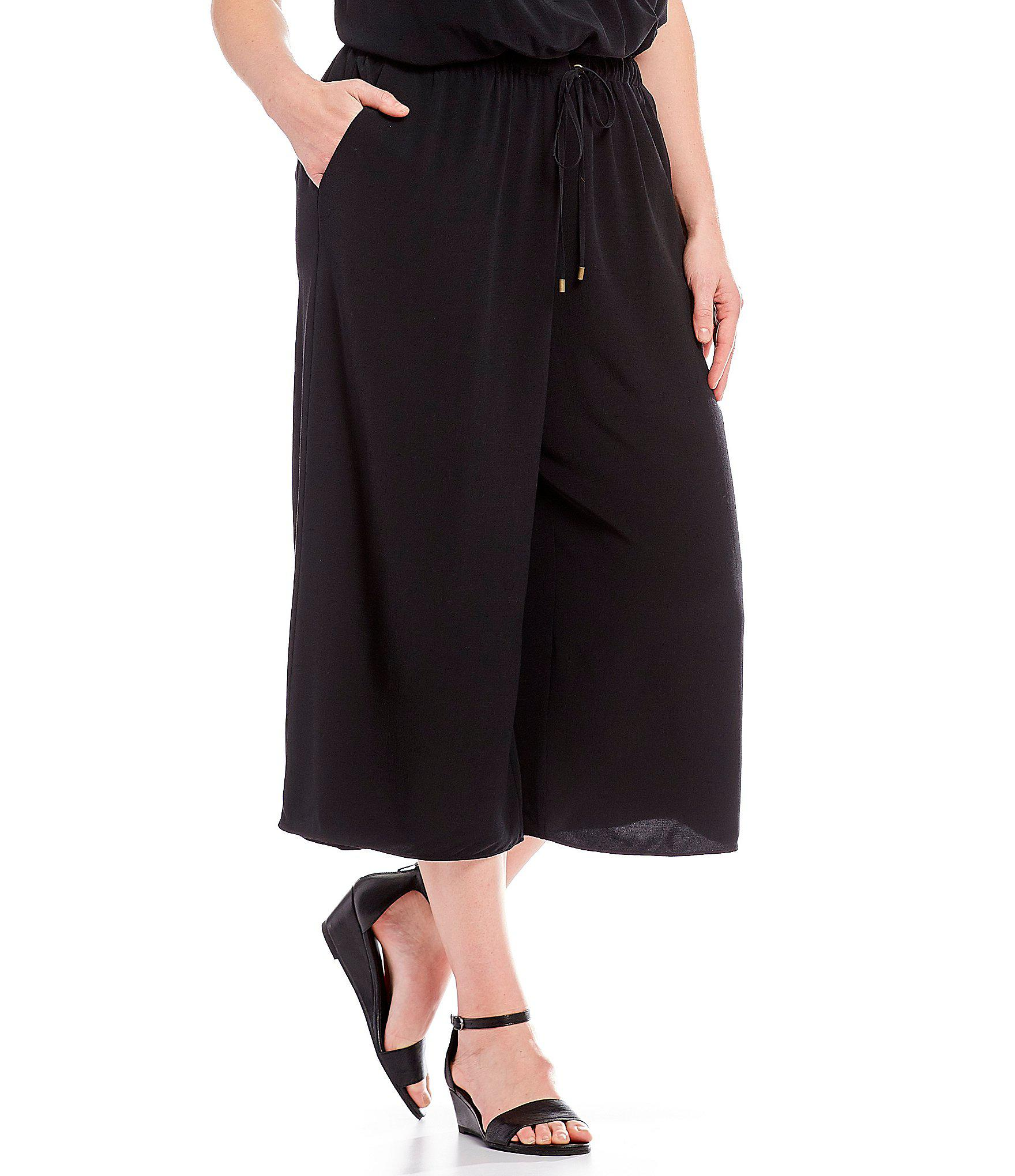 Lyst Eileen Fisher Plus Size Wide Leg Cropped Jumpsuit In Black