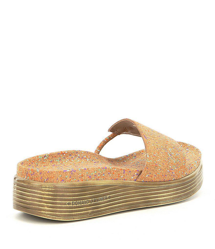 Fifi Speckle Cork Platform Sandals N8I095