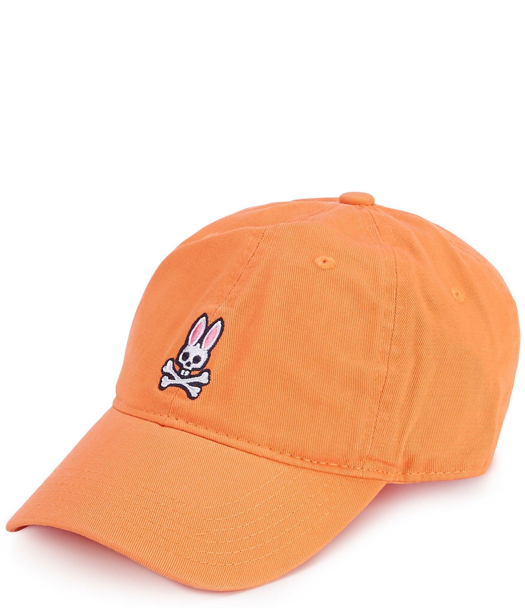 Lyst - Psycho Bunny Classic Stonewash Hat in Orange for Men f5103a5966c5