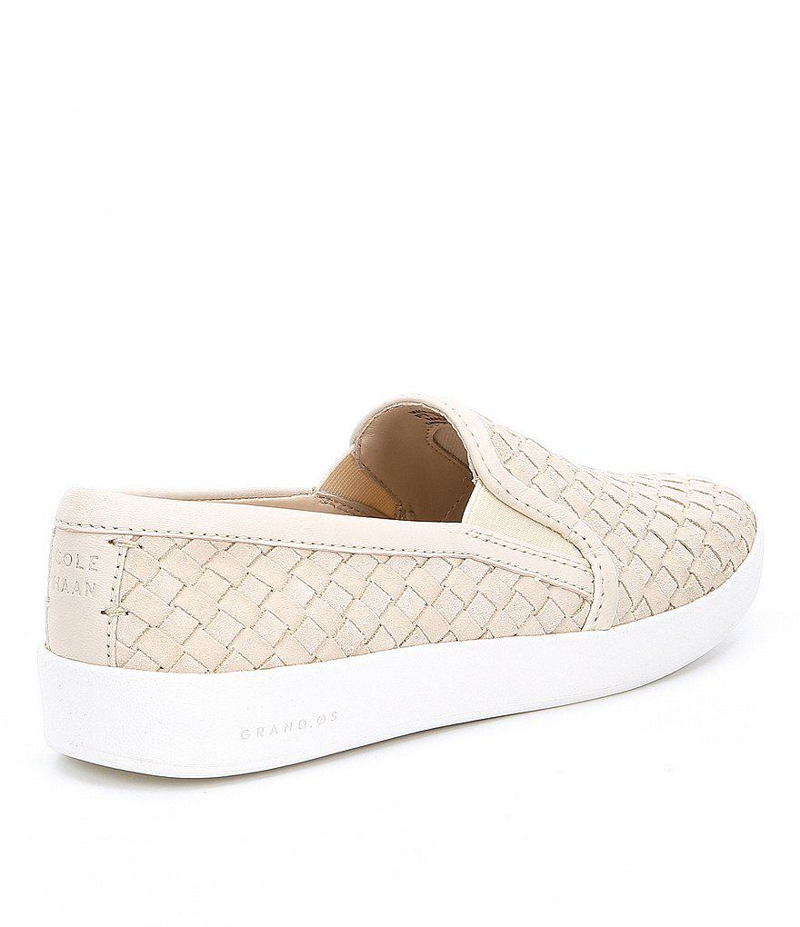 Grandpro Spectator Woven Suede and Leather Slip-On Sneakers m7Knj