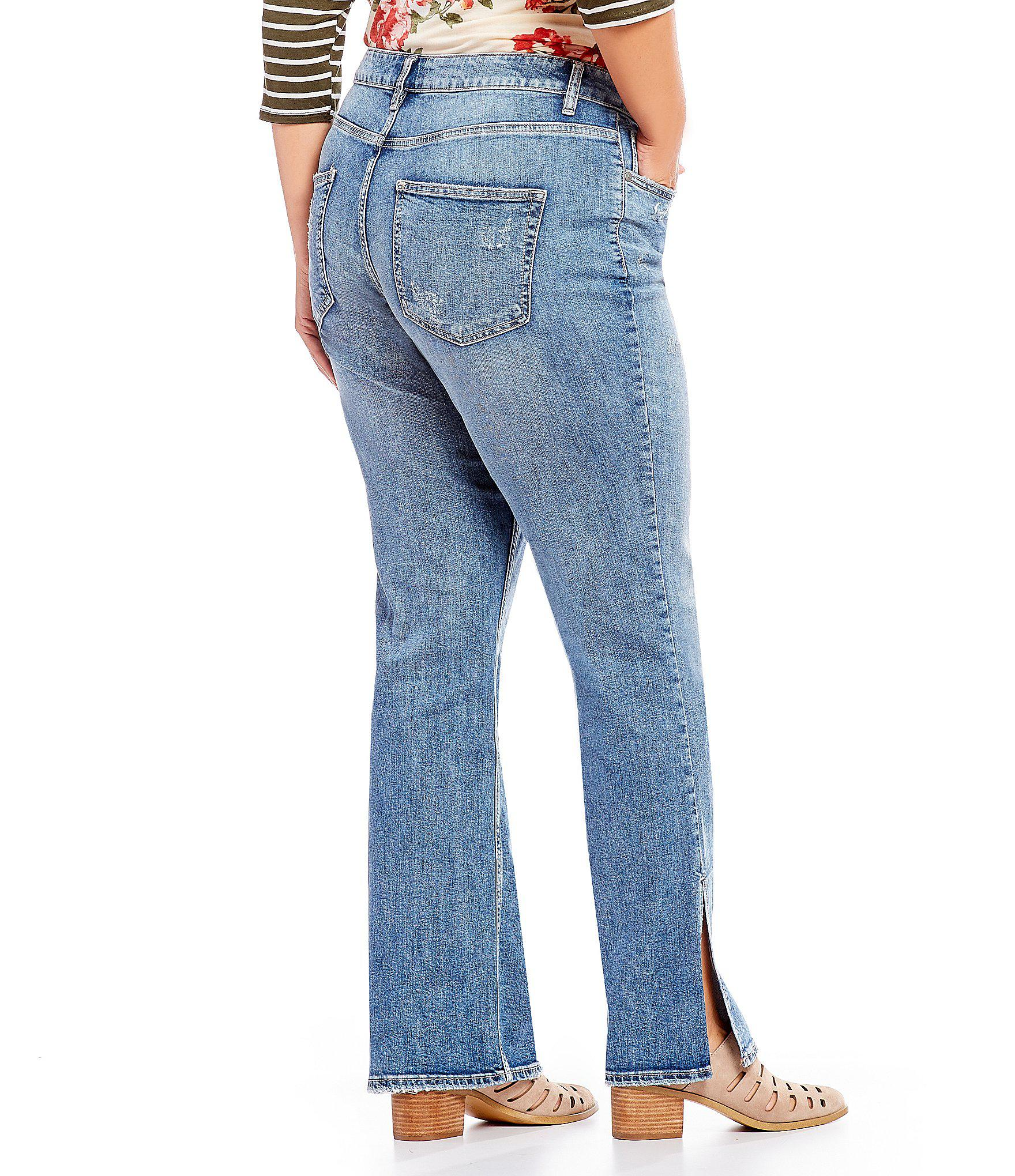 16a2292a2ee Lyst - Silver Jeans Co. Plus Avery Ultra Curvy Boot Cut Jean in Blue