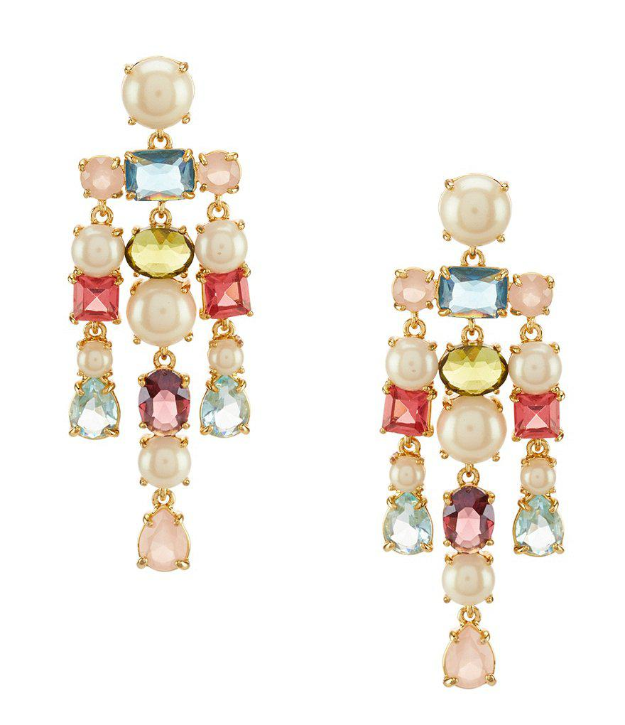 Lyst kate spade new york a new hue faux pearl chandelier earrings gallery arubaitofo Image collections