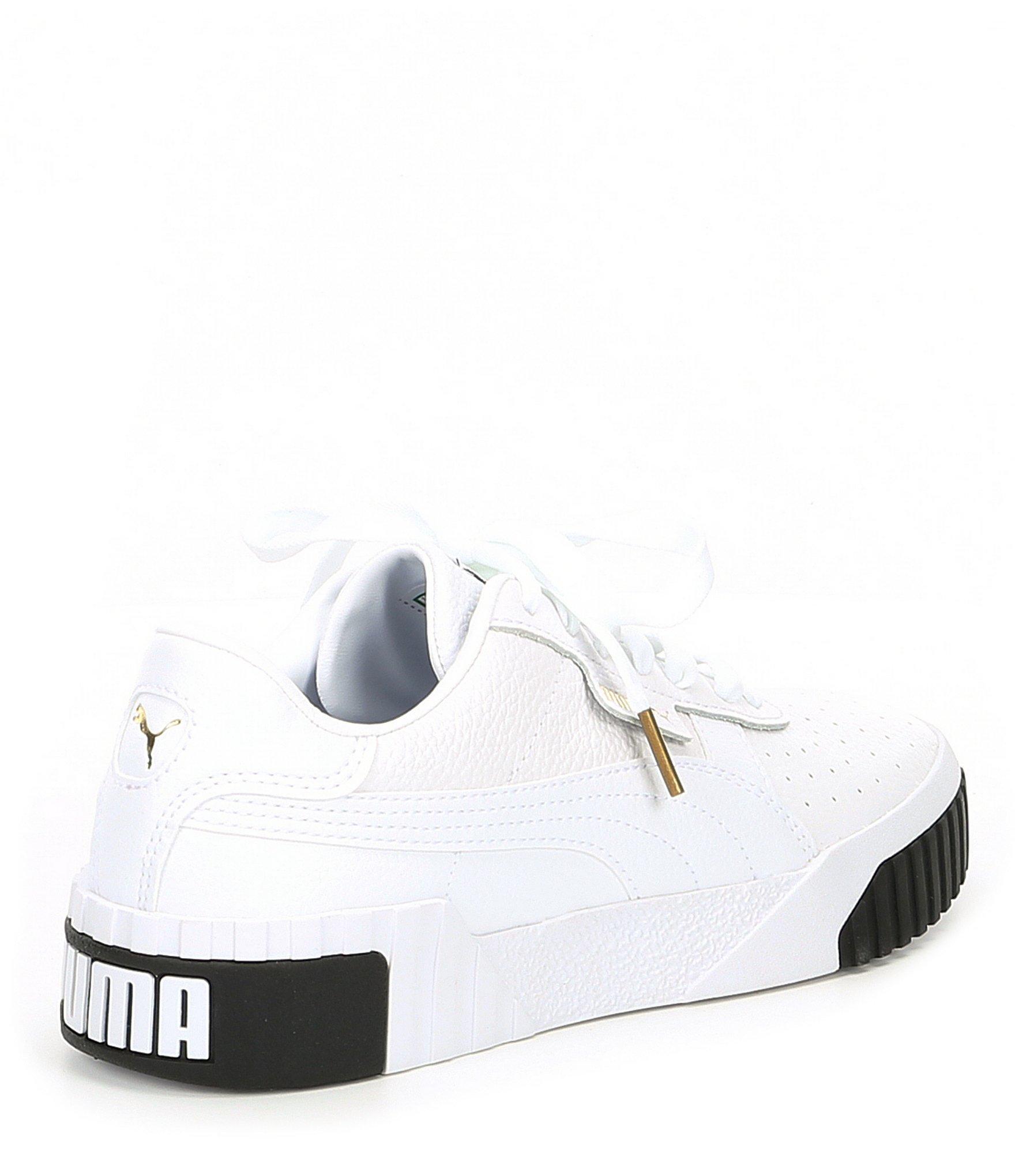 PUMA - White Women s Cali Leather Sneakers - Lyst. View fullscreen 97280db69